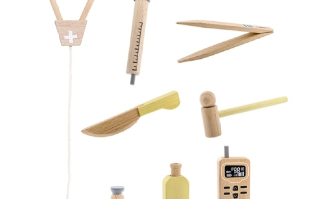 Leo Bella Bloomingville Mini Play Wooden Doctor Play Set