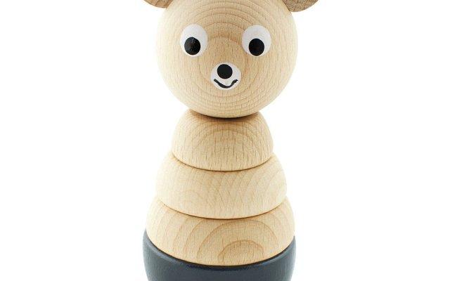 Leo Bella Miva Vacov Wooden Stacking Puzzle Bear