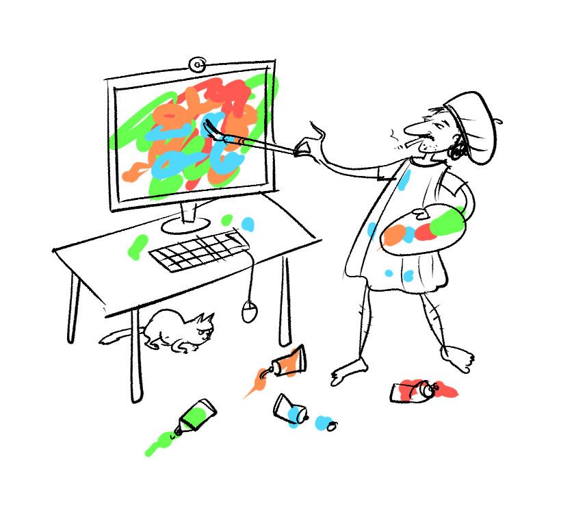 Computer Artist by Leo Hartas