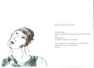 Tekening: Leonie Nijman, gedicht Toon Tellegen