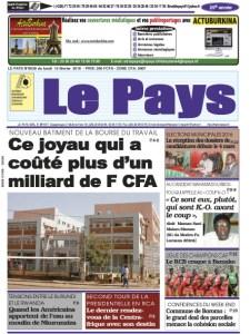 LE JOURNAL DU  15/02/2016