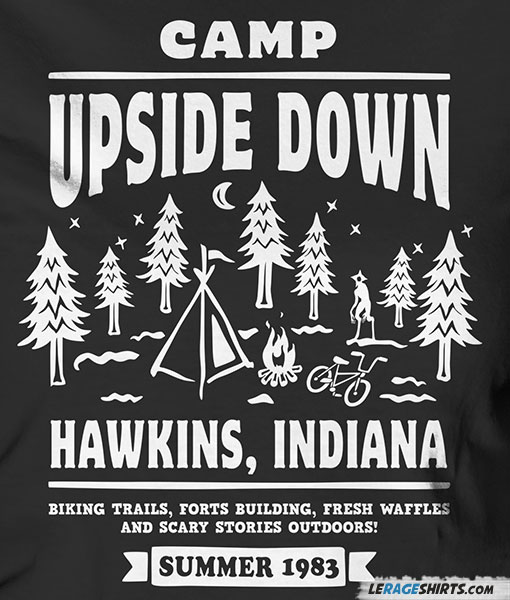 Stranger Things Wallpaper Cute Camp Upside Down T Shirt Stranger Things By Lerage Shirts