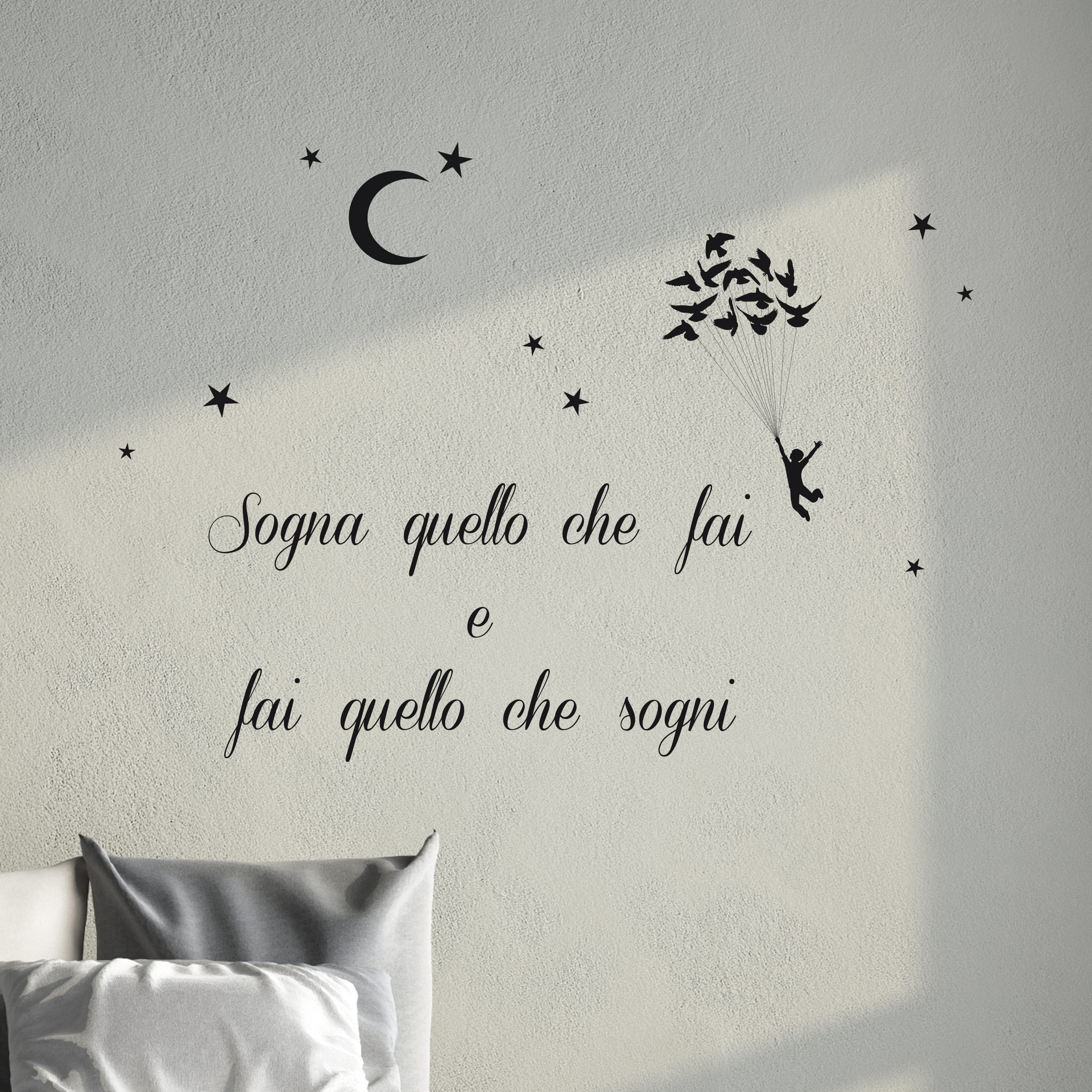 Sognare Sedia Bianca Wallsticker Words Up S Sogna Quello Che Fai