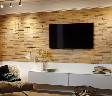 Revestimiento De Pared Madera Ultrawood Oak Firenze Ref - Leroy Merlin Maderas Para Paredes