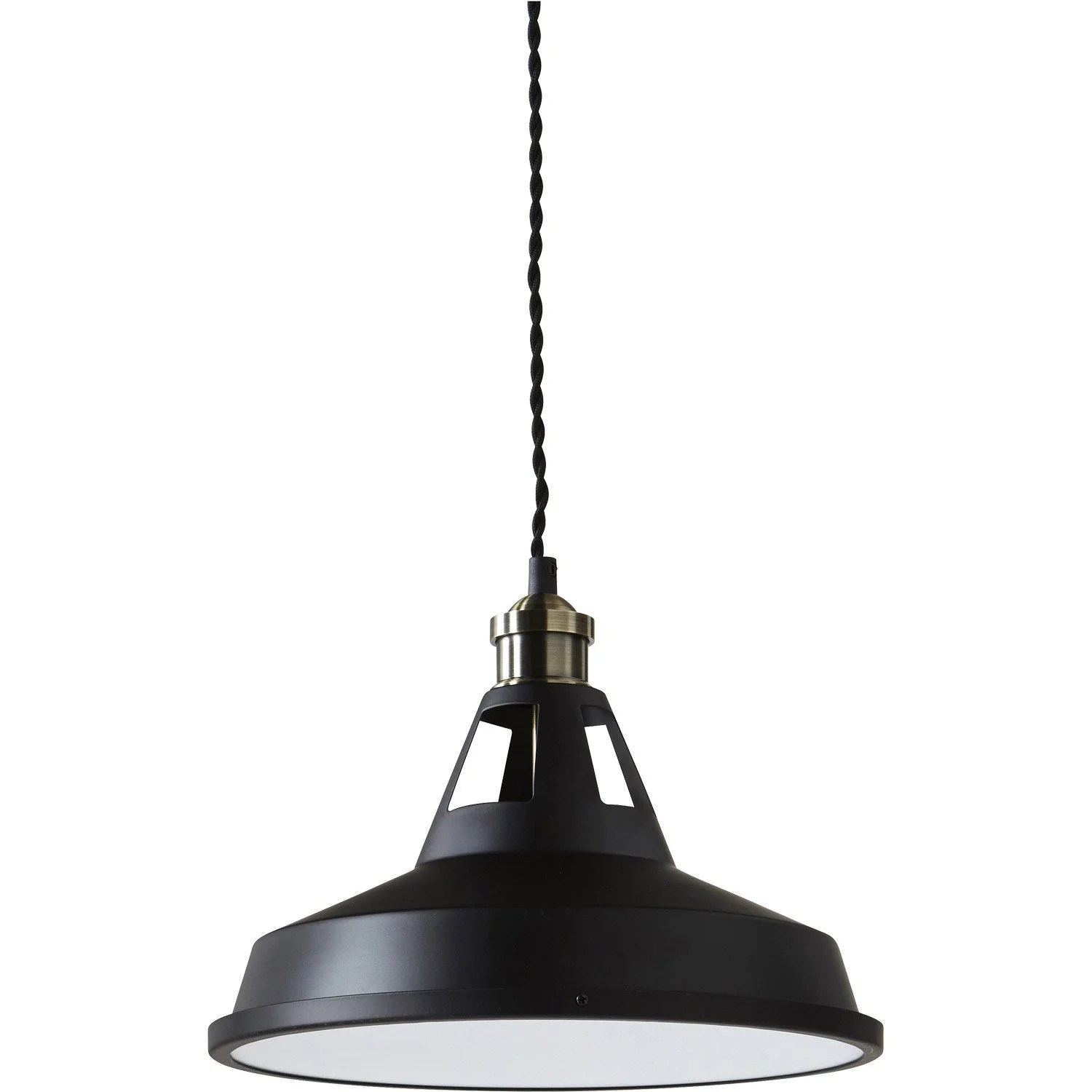 Suspension Metal Design Suspension Led Design Mineko Métal Noir 1 X 14 W Inspire