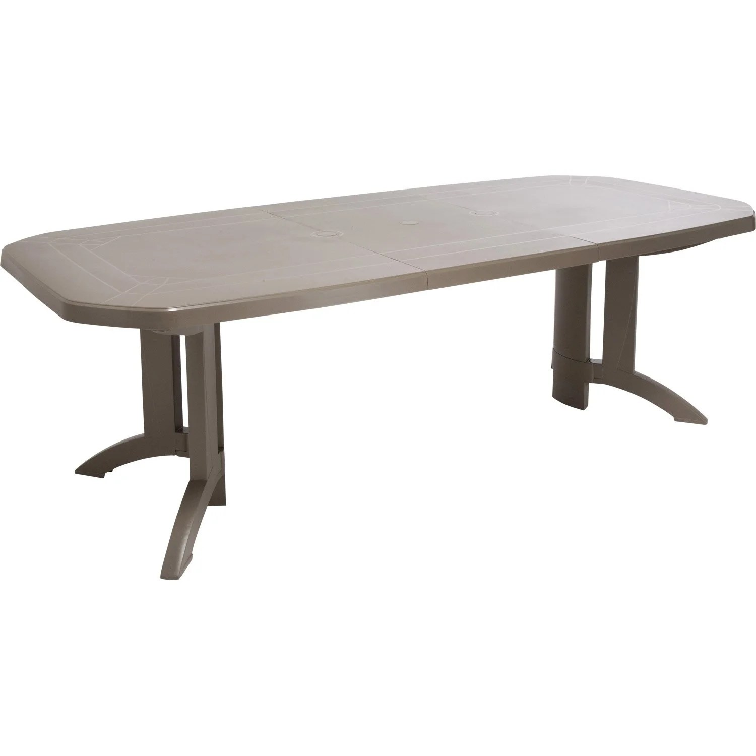 Table Jardin Verte Plastique Table De Jardin Grosfillex Véga Rectangulaire Taupe 10