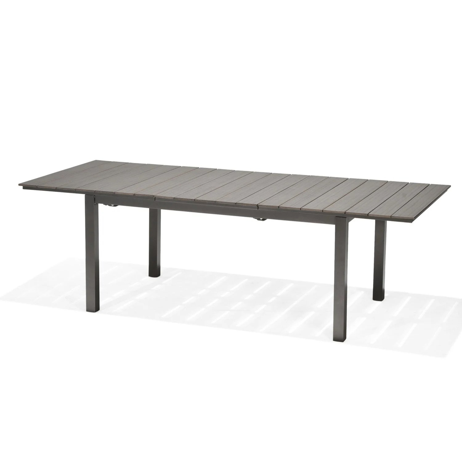 Table Fer Jardin Table De Jardin Salerno Rectangulaire Gris 4 6 Personnes