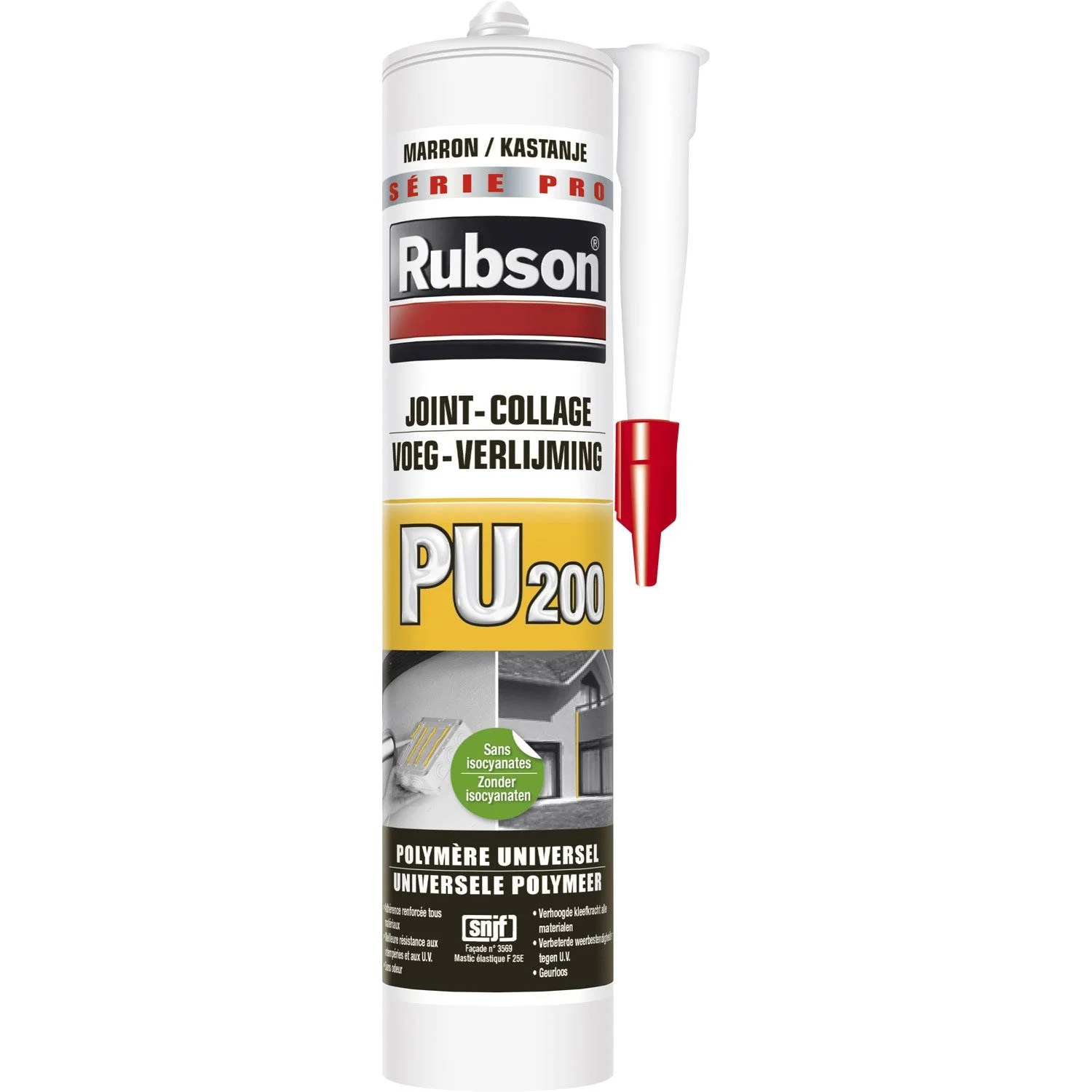 Mastic Colle Exterieur Mastic Colle Rubson 280 Ml Marron Leroy Merlin