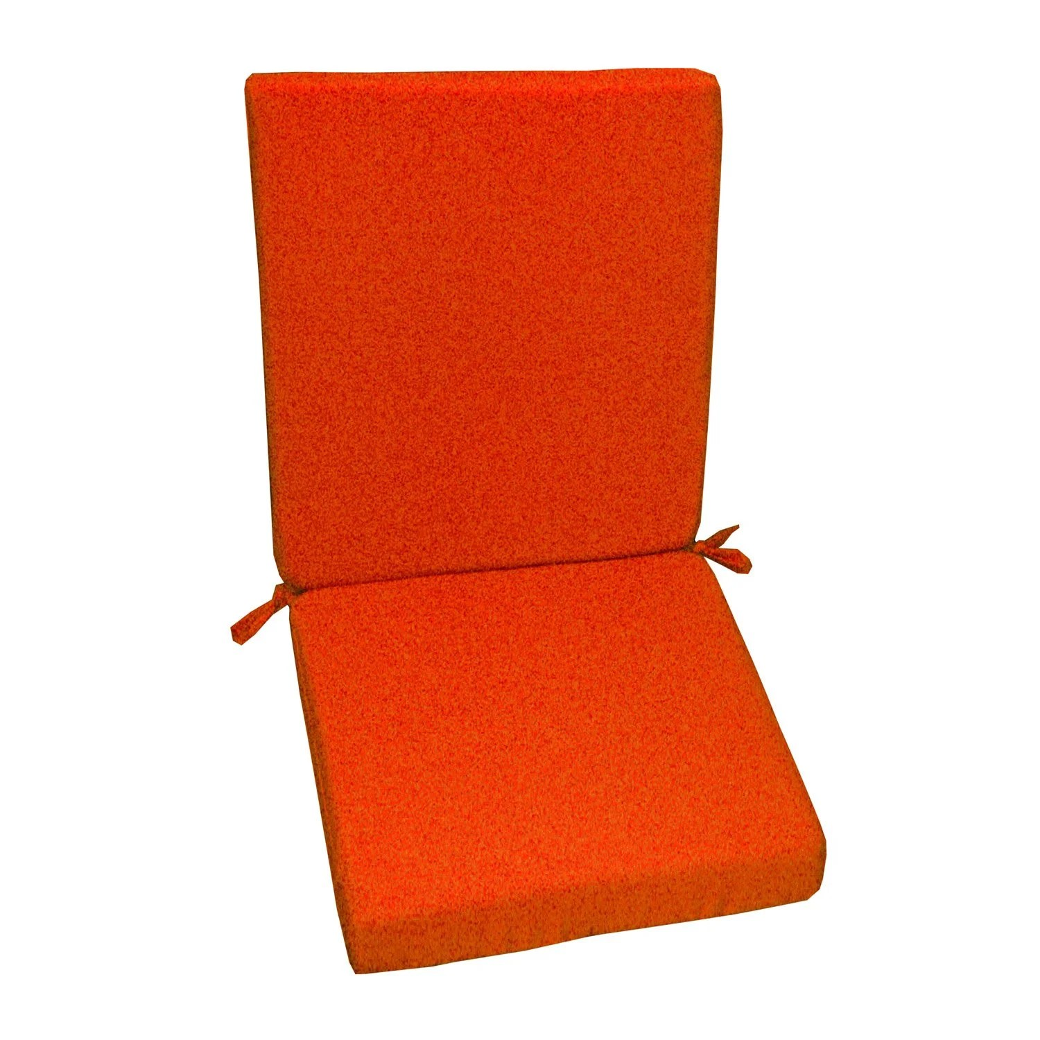 Salon De Jardin Orange Coussin D 39assise De Chaise Ou De Fauteuil Orange Lola