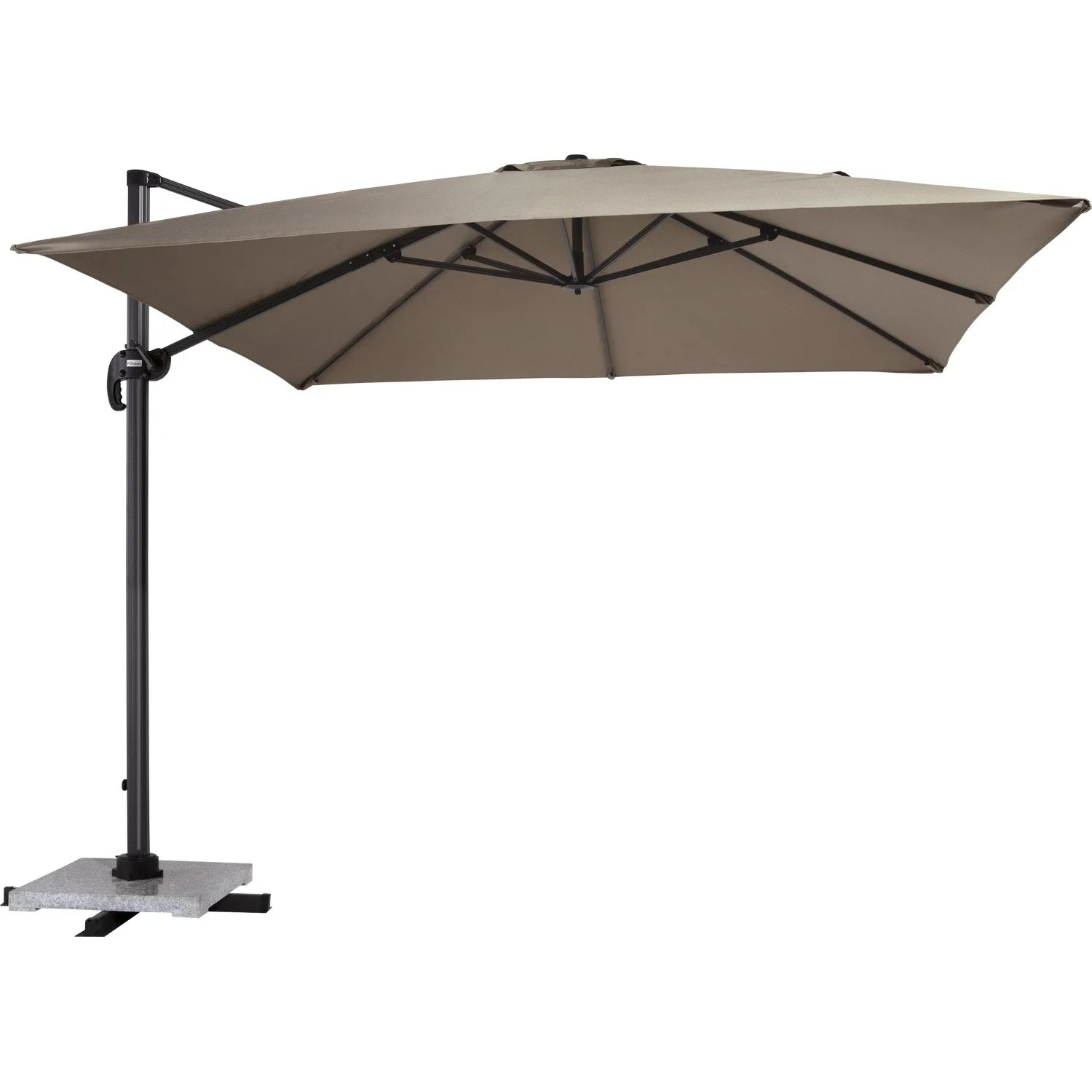 Parasol Soldes Leroy Merlin Parasol Excentré Anita Proloisirs Taupe 9 M² Leroy Merlin