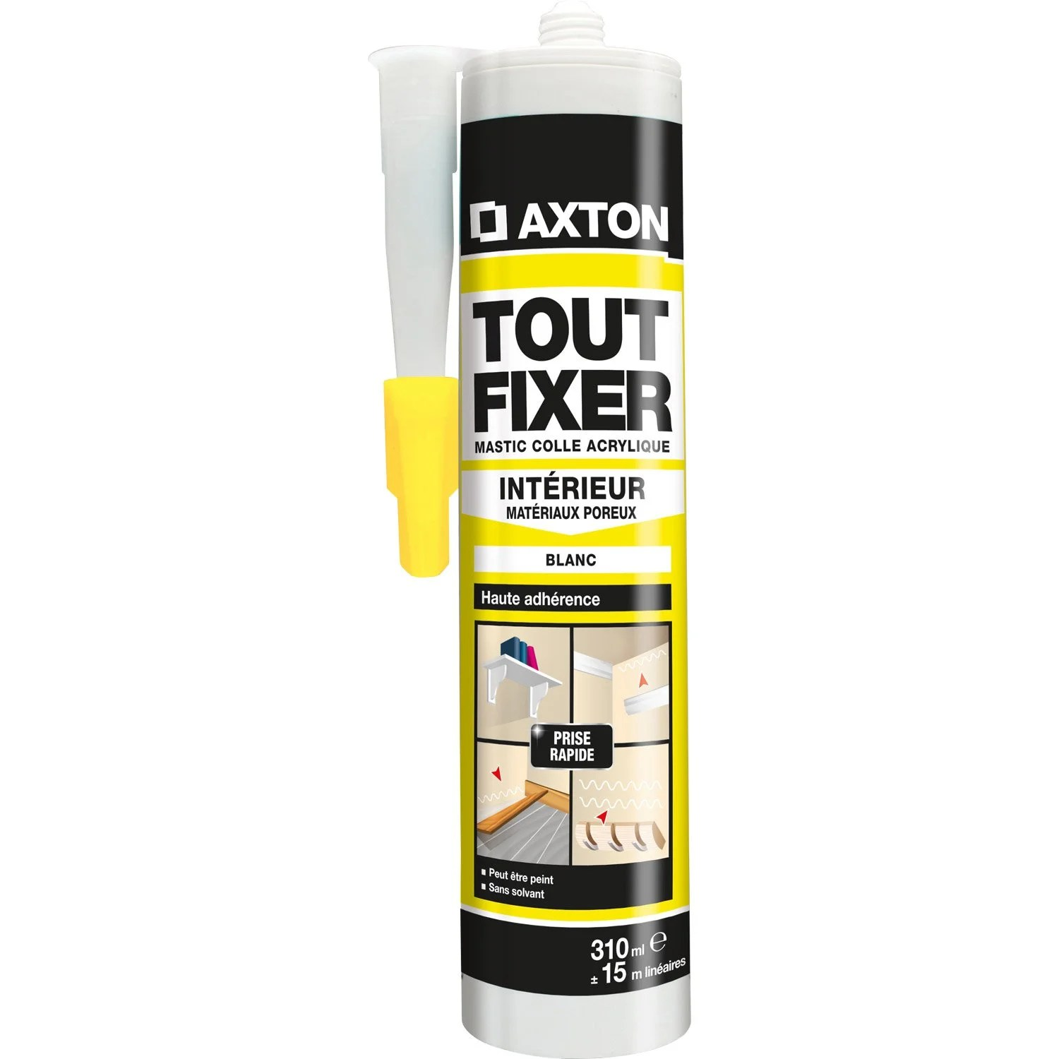 Eclairage Exterieur Mural Monsieur Bricolage Colle Mastic Multi Supports Axton Tout Fixer Blanc