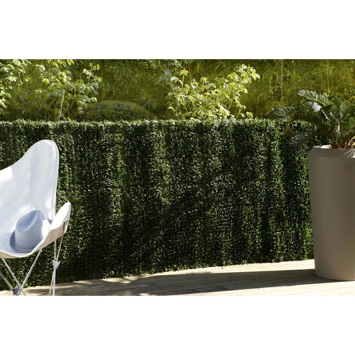 Isolation Phonique Terrasse Haie Artificielle Sans Attache Naterial H 150 X L 300 Cm
