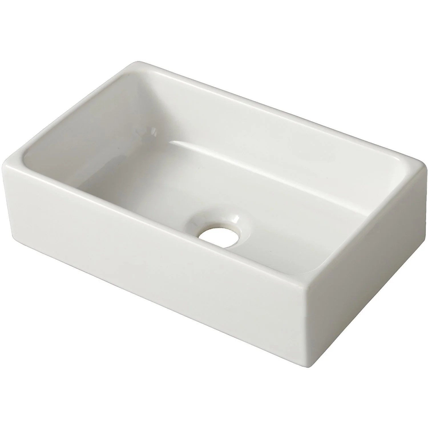 Lave-mains Leroy Merlin Lave Mains Céramique Rectangle Blanc L 41 X P 25 Cm Linea