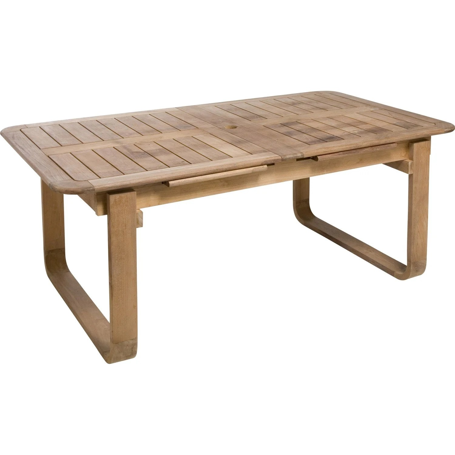 Table Bois 6 Personnes Table De Jardin Naterial Resort Rectangulaire Naturel 6 8