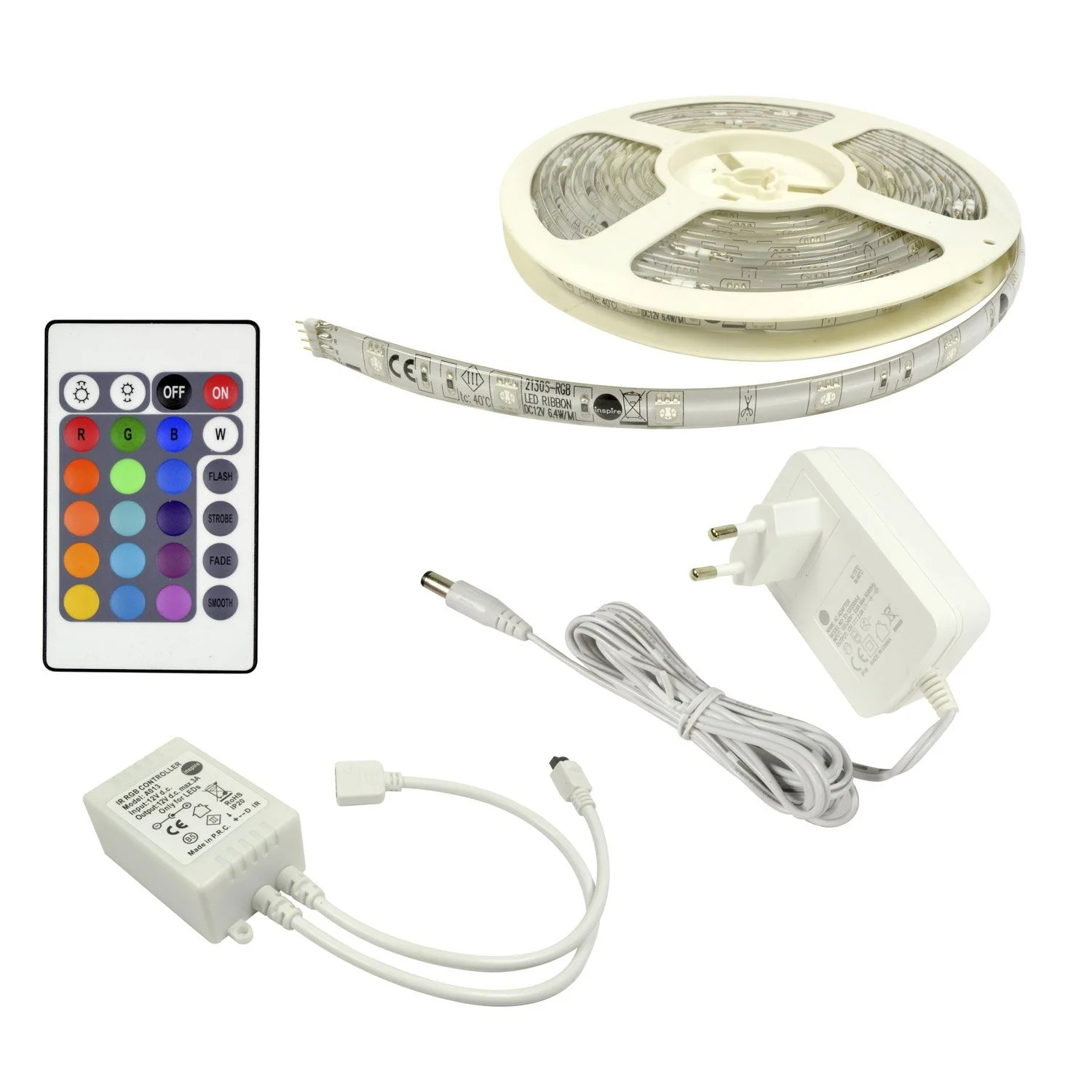 Eclairage Led Multicolore Kit Ruban Led 5m Multicolore Flexled Inspire Leroy Merlin