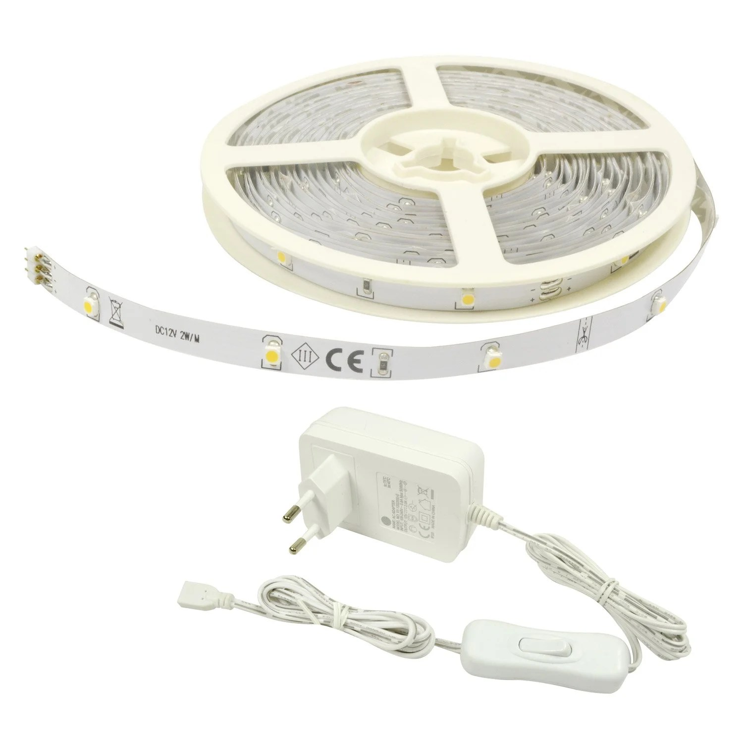 Ruban Led Leroy Merlin Kit Ruban Led Flexled Led 1 X 12 W Led Intégrée Blanc