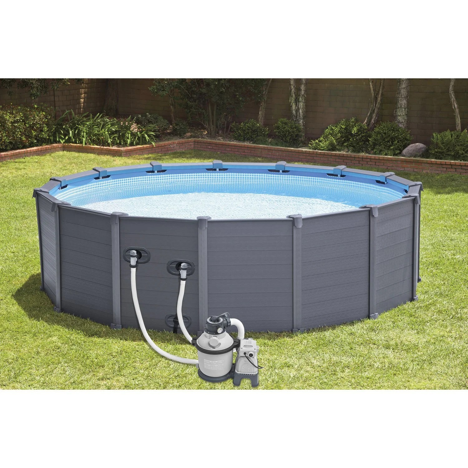 Le Roy Merlin Piscine Piscine Hors Sol Autoportante Tubulaire Graphite Intex