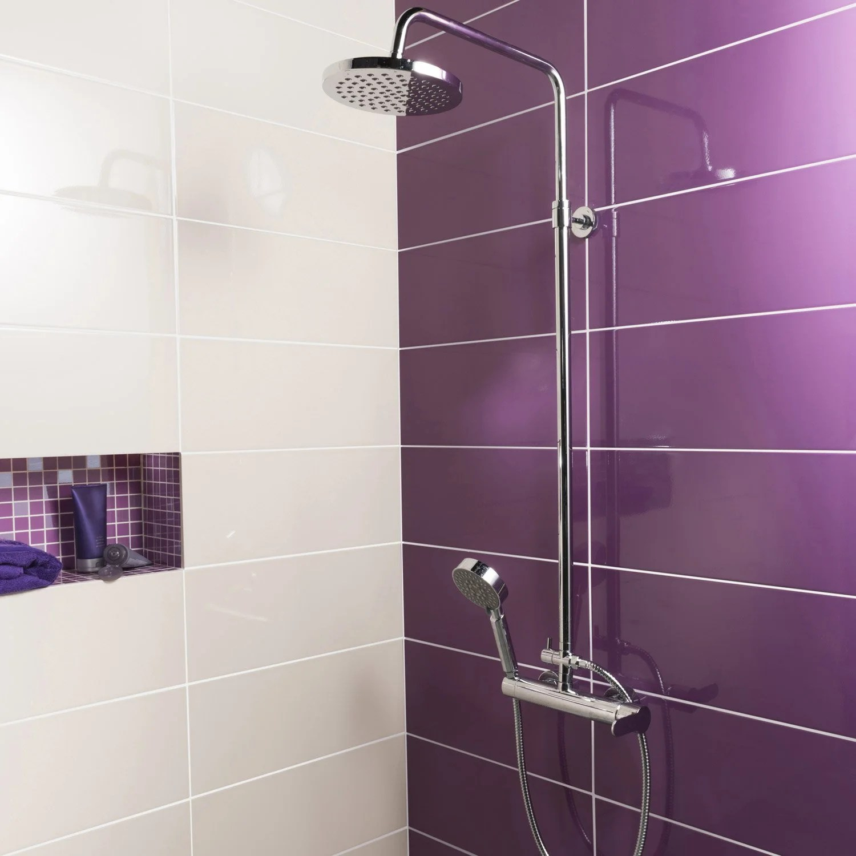 carrelage mauve salle bain deco salle de bain carrelage. Black Bedroom Furniture Sets. Home Design Ideas