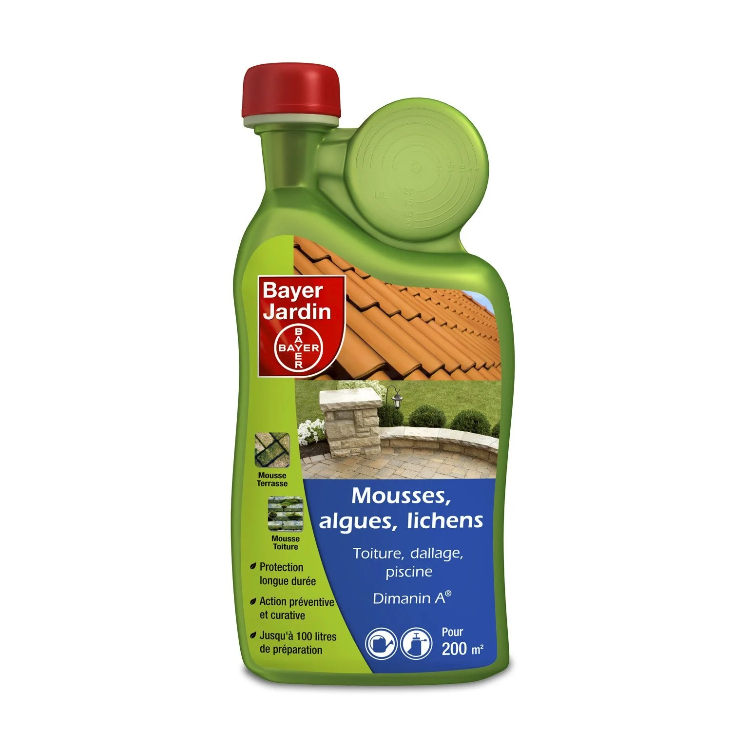 Anti Mousse Terrasse Leroy Merlin Anti Mousse Algues Et Lichens Bayer 1l Leroy Merlin