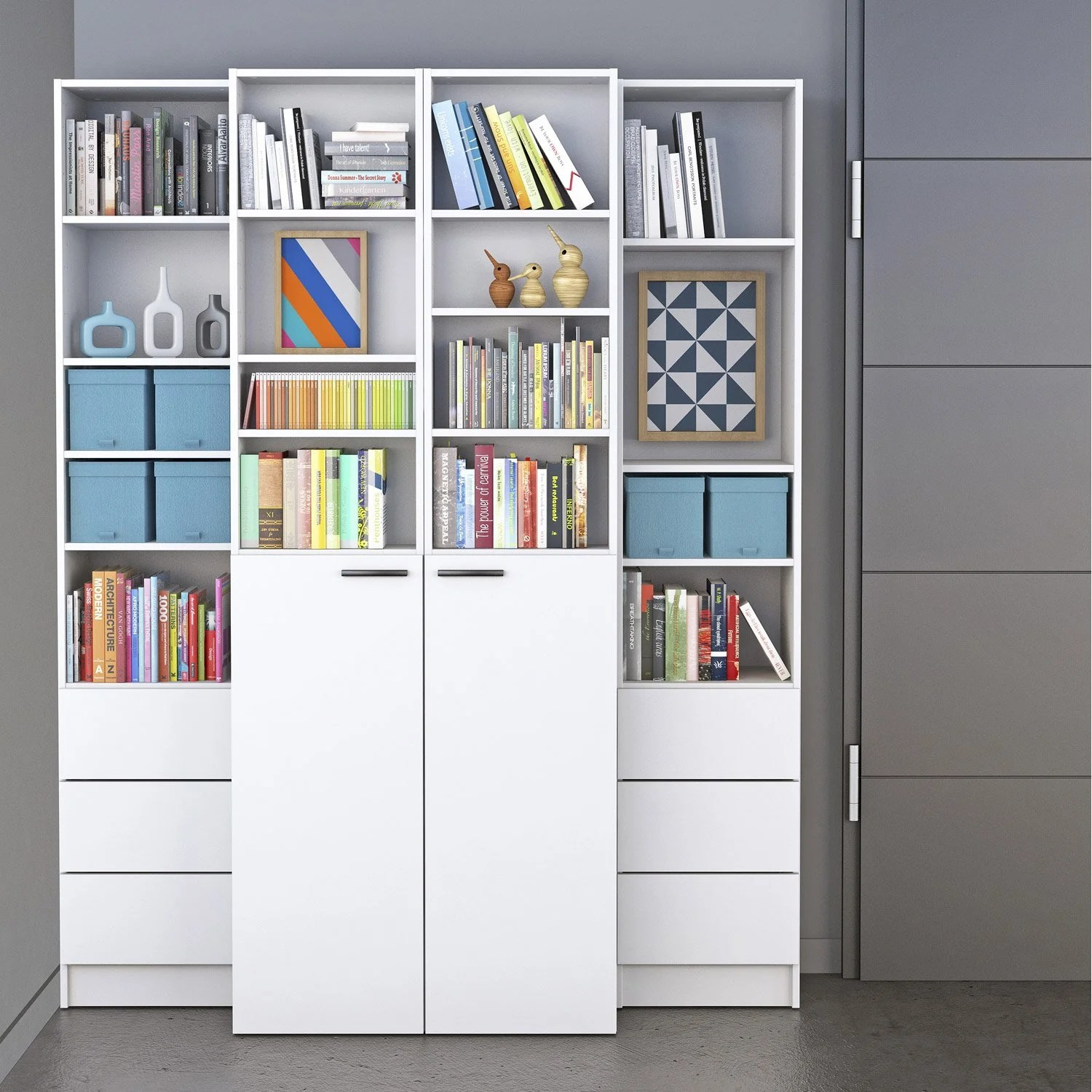 Leroy Merlin Spaceo Porte Bibliothèque Spaceo Home Blanc Leroy Merlin