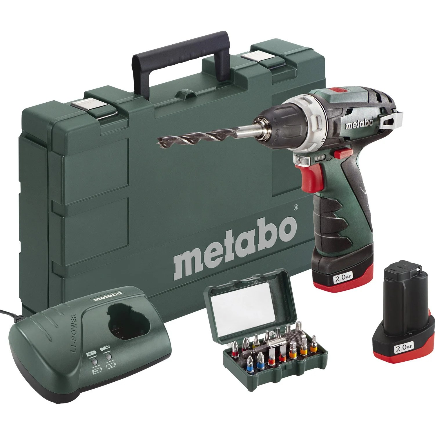 Metabo Leroy Merlin Perceuse Sans Fil Metabo 10 8 V 2 Ah 2 Batteries Leroy