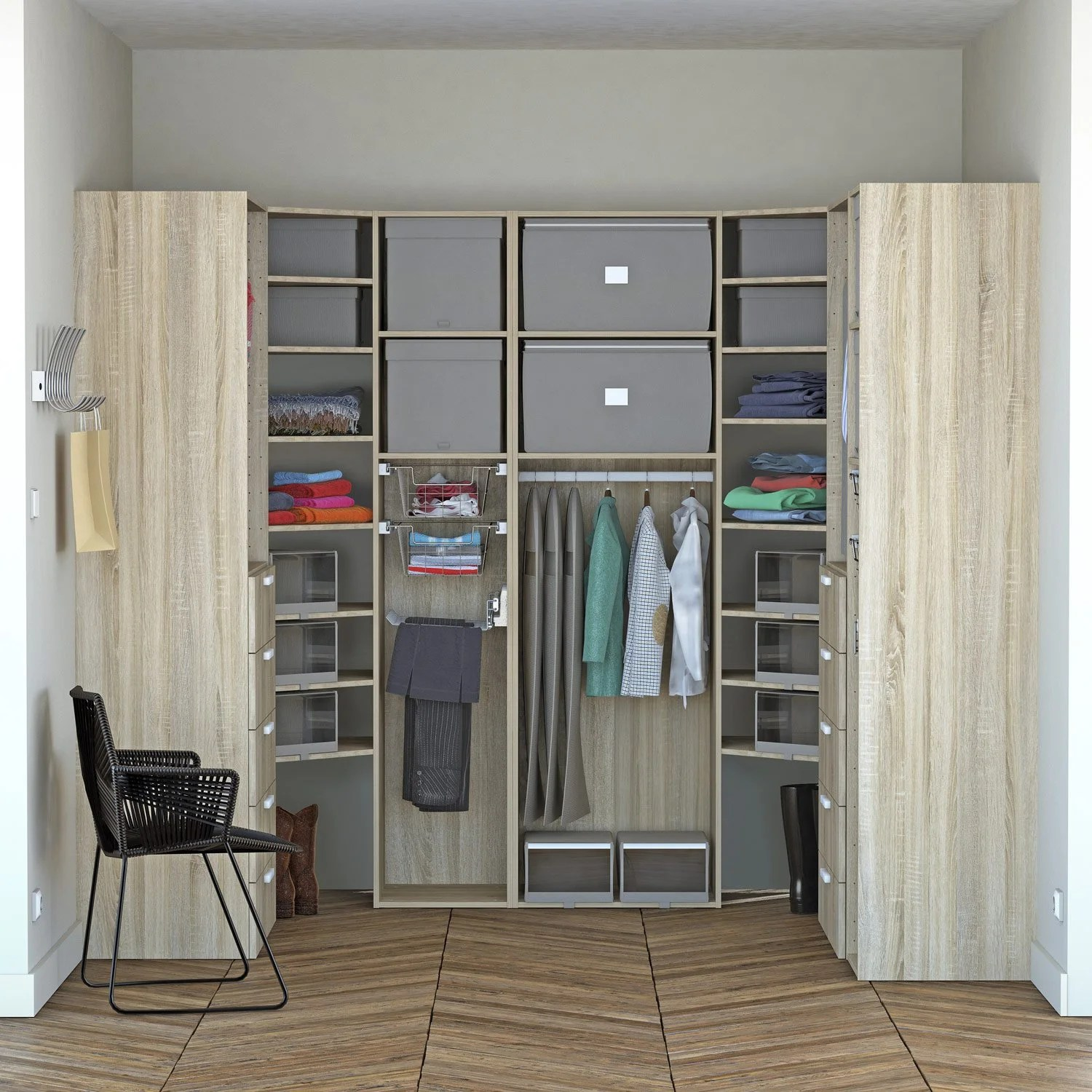 Dressing Leroy Merlin 3d Dressing Spaceo Home Effet Chêne Leroy Merlin