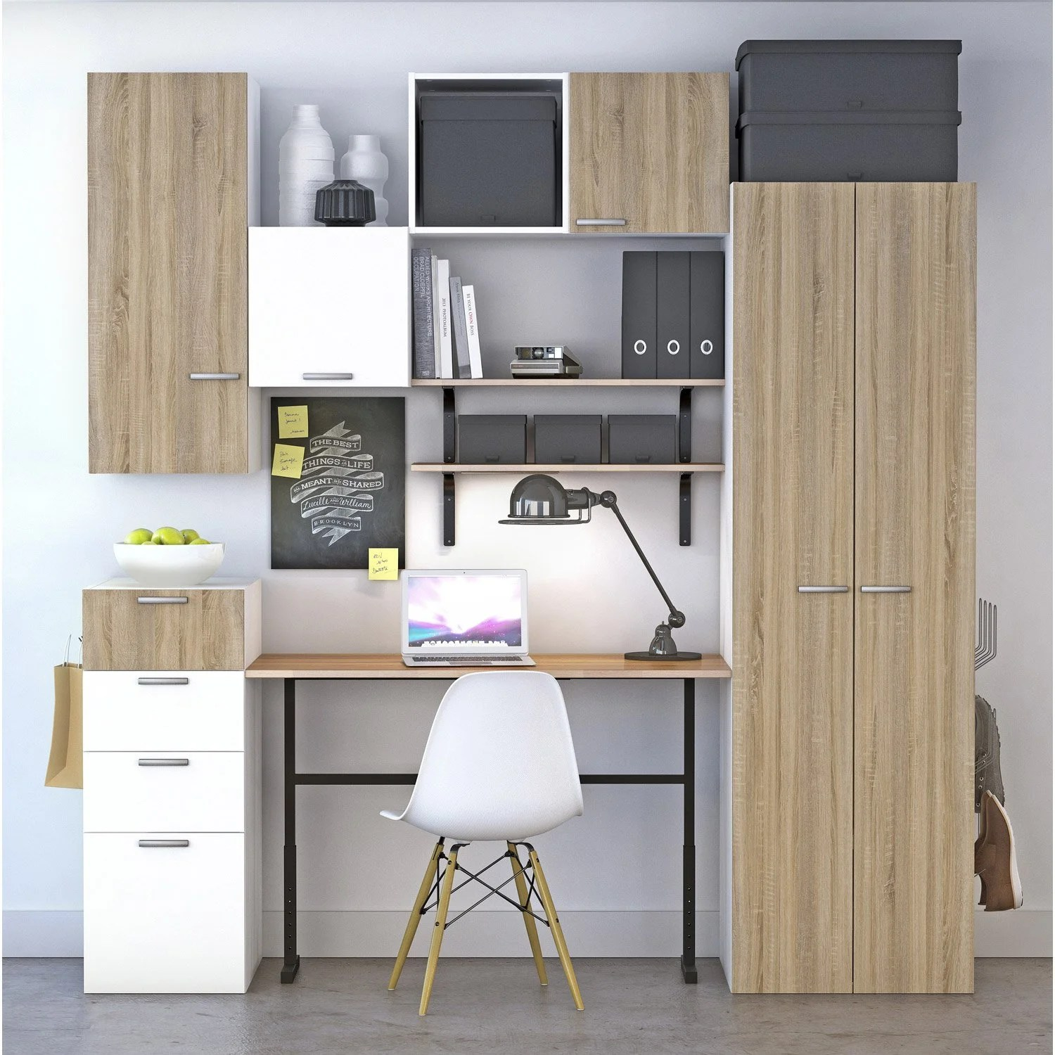 Leroy Merlin Spaceo Porte Bureau Spaceo Home Effet Chêne Leroy Merlin