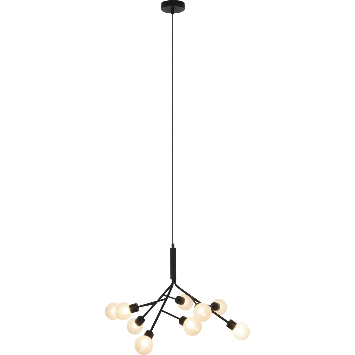 Suspension Metal Design Suspension Design Shoot Métal Noir 9 X 33 W Brilliant