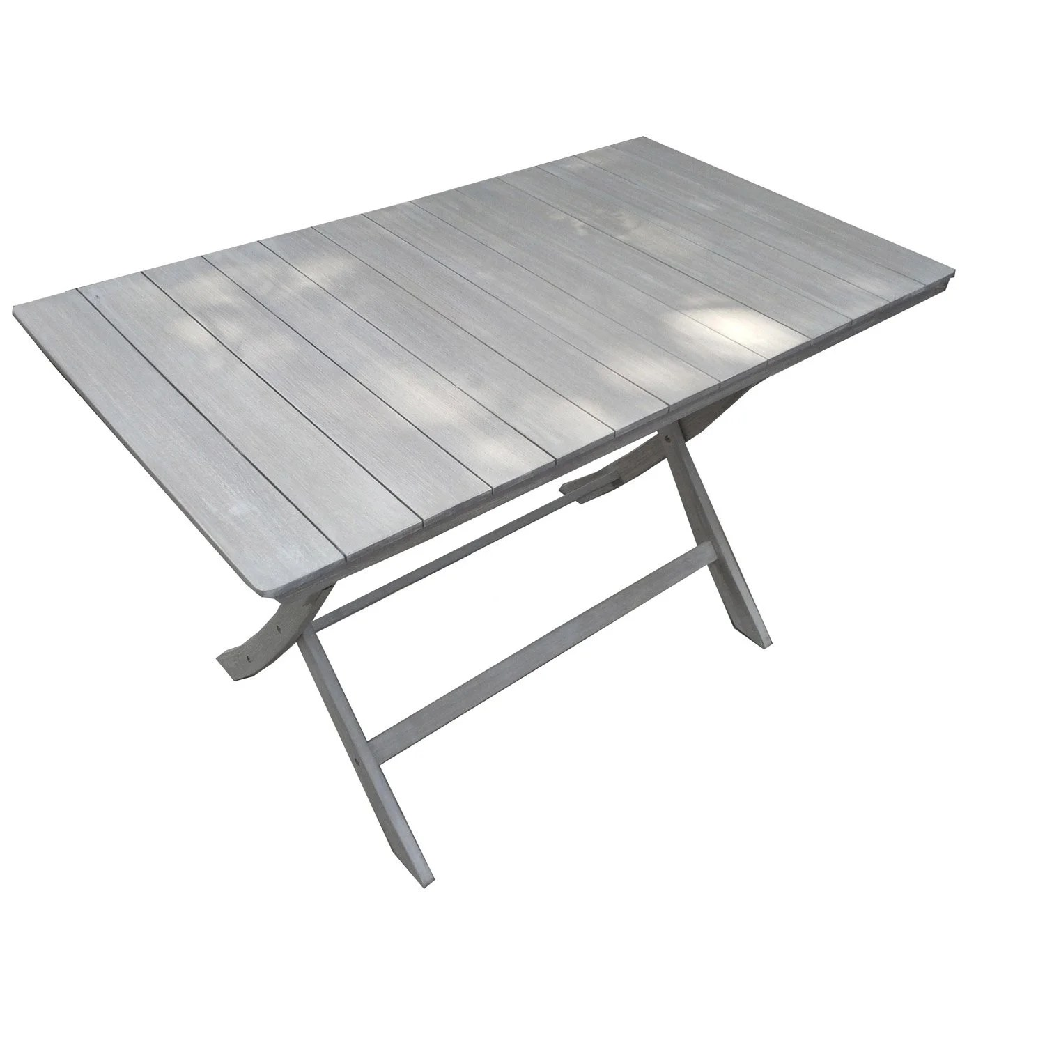 Table Fer Jardin Table De Jardin Naterial Portofino Rectangulaire Gris 4