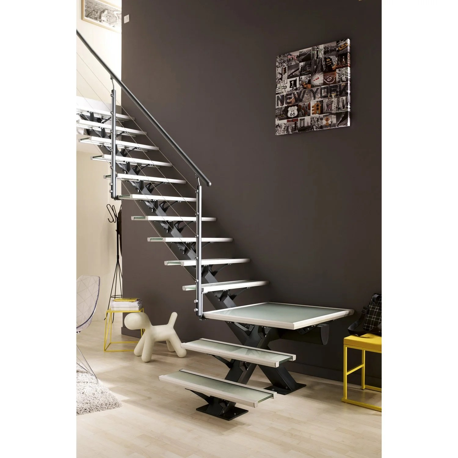 Escaliers Leroy Merlin Escalier Quart Tournant Mona Marches Structure Aluminium