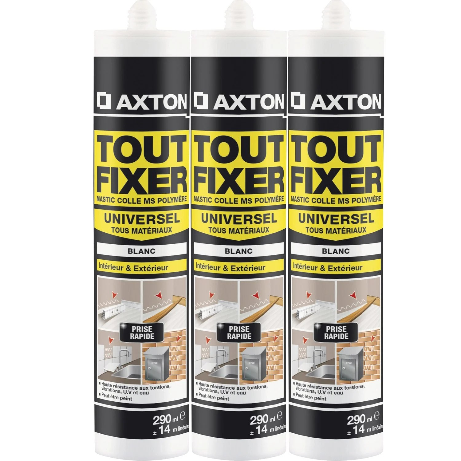 Mastic Colle Exterieur Colle Mastic Tout Fixer Axton 290 Ml Leroy Merlin