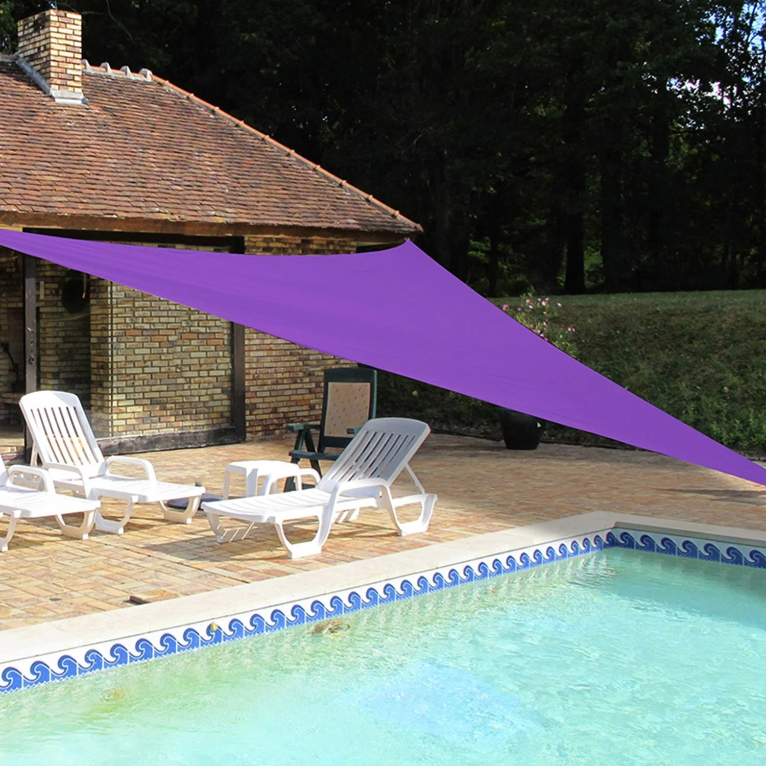 Voile D Ombrage Leroy Merlin Voile D 39ombrage Triangle Violet L 500 X L 500 Cm Leroy