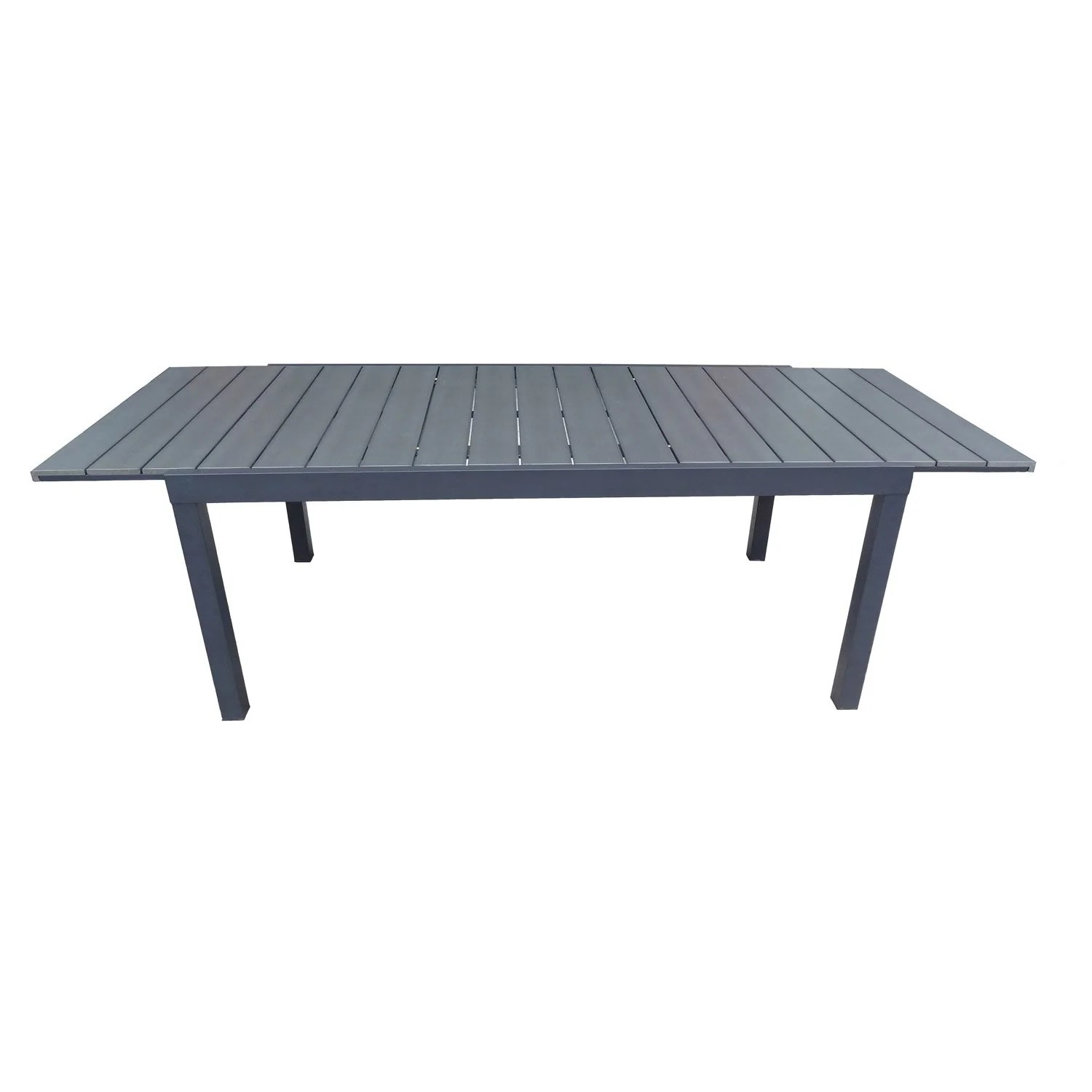 Table Fer Jardin Table De Jardin Naterial Pratt Rectangulaire Gris Leroy