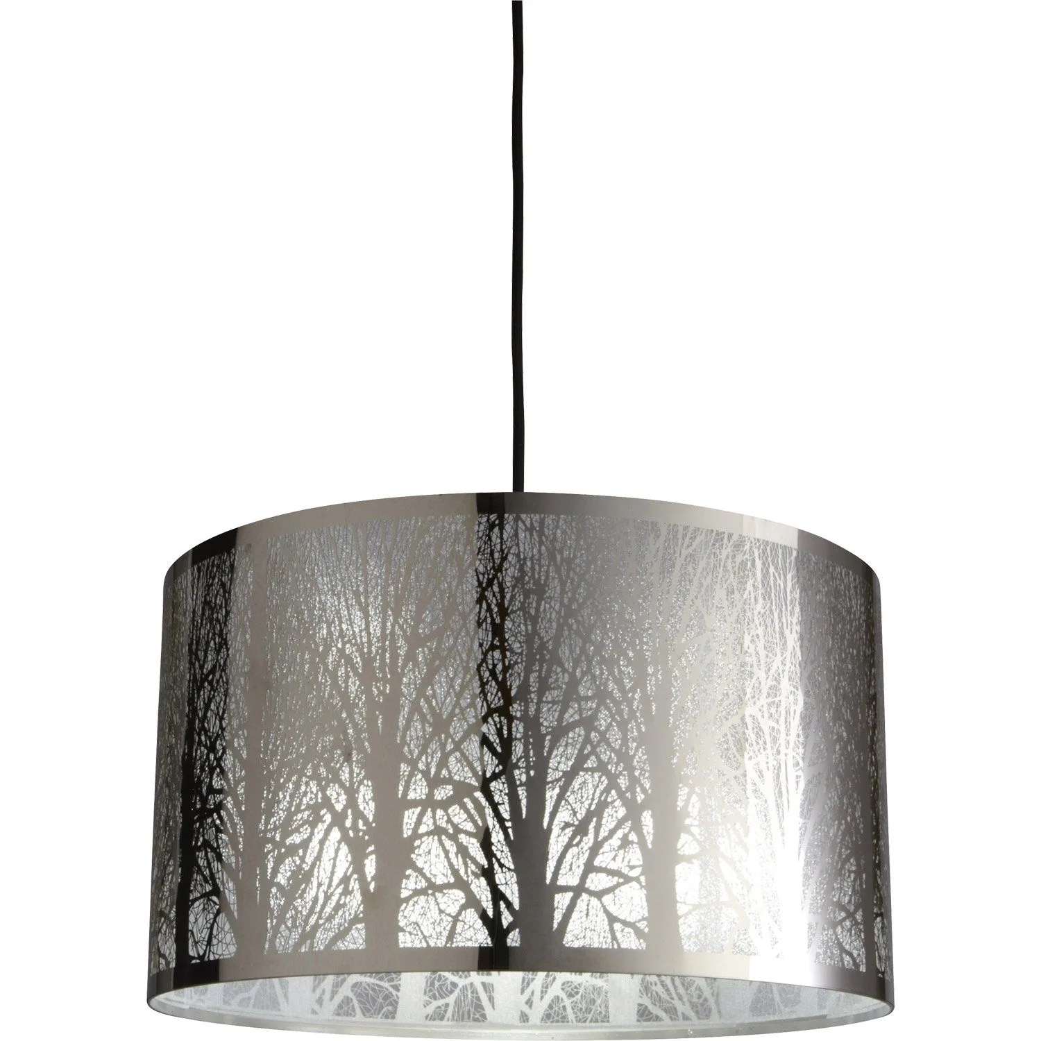 Suspension Moderne Salon Suspension Moderne Forest Métal Noir 1 X 60 W Inspire