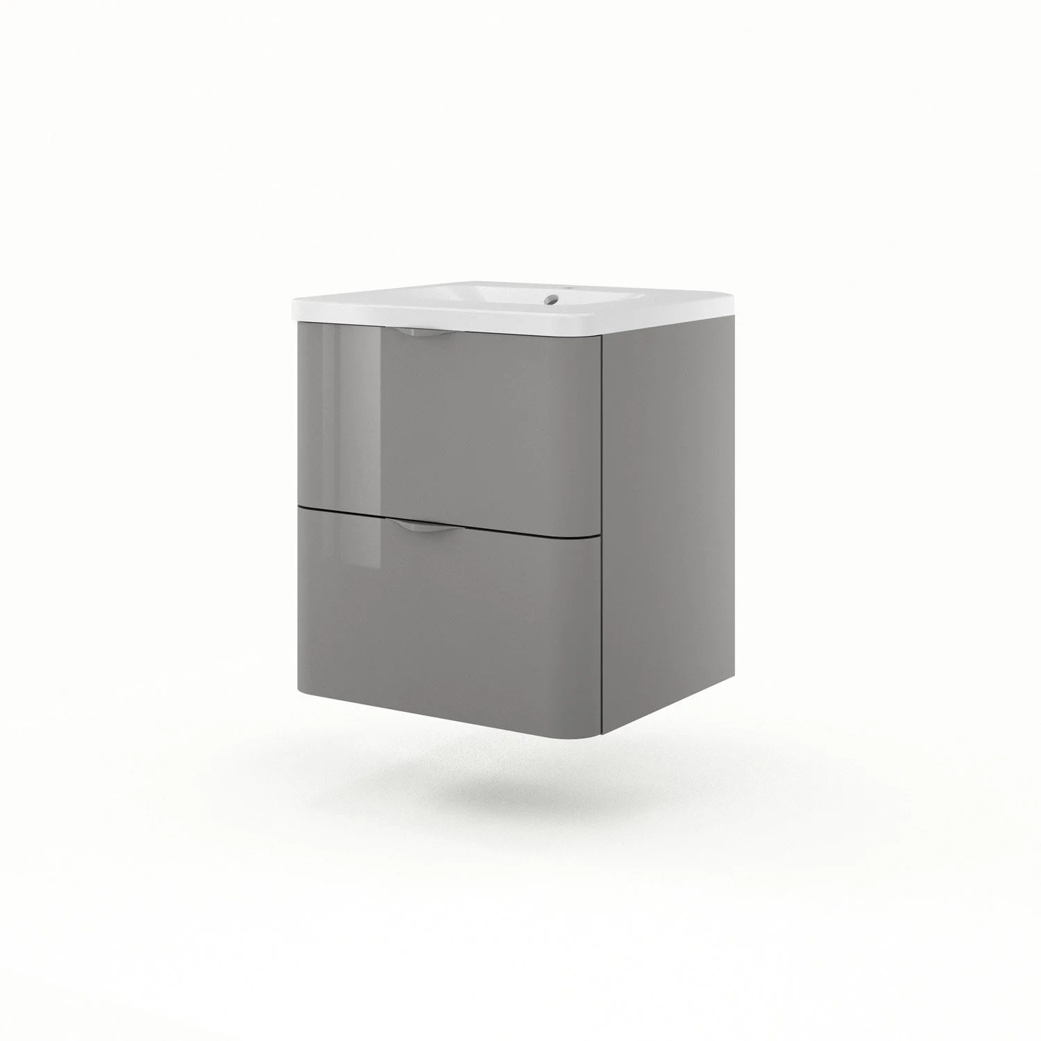 Meuble Vasque 60 Meuble Vasque 60 Cm Gris Neo Shine Leroy Merlin