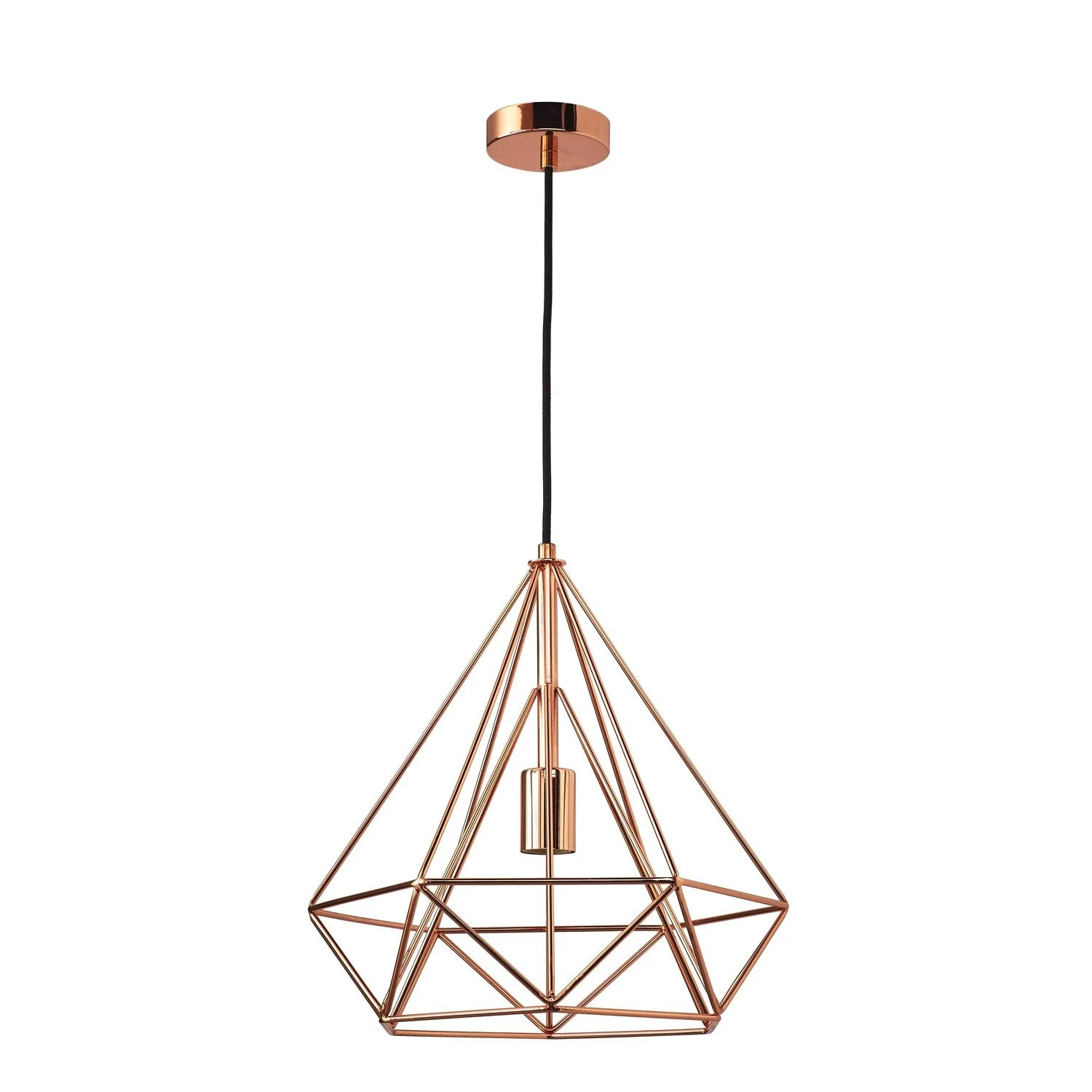Suspension Metal Design Suspension E27 Design Byron Métal Cuivre 1 X 60 W Inspire