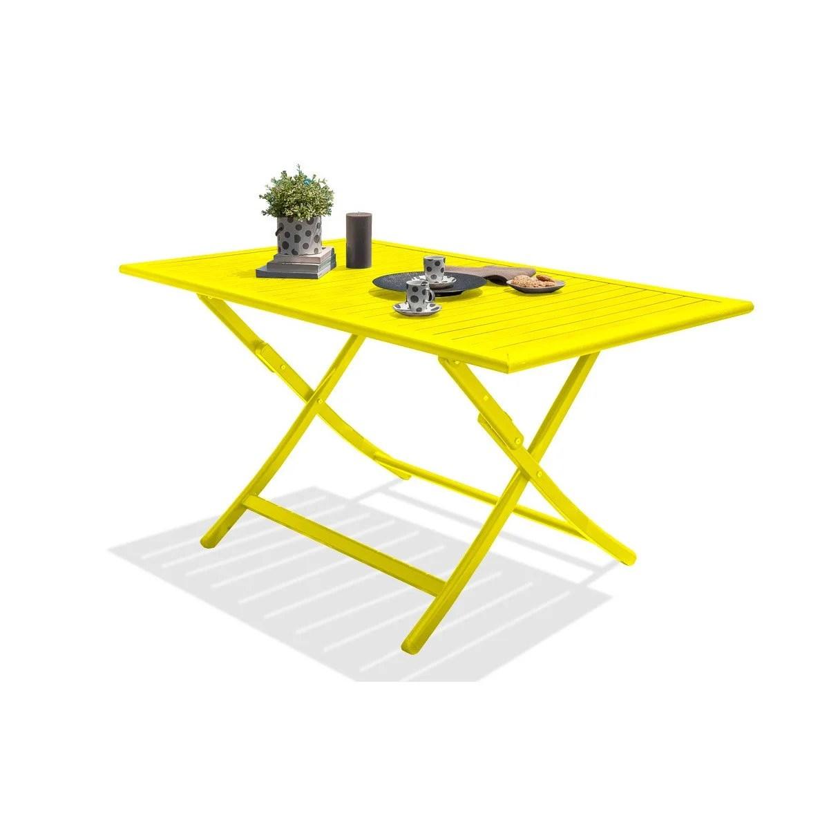 Table Jardin Bois Zinc | Table De Jardin Rectangulaire En Pin Farm ...