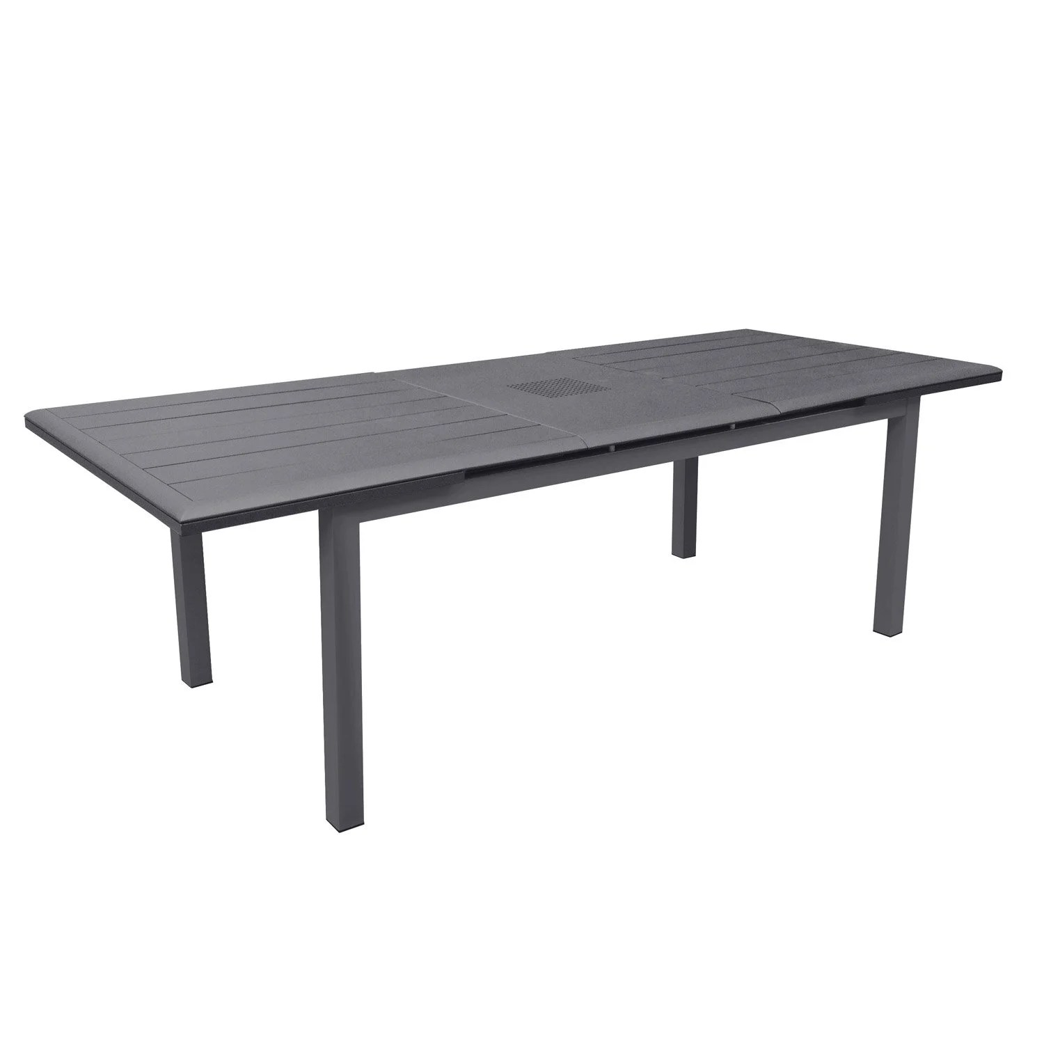 Table Fer Jardin Table De Jardin Louisiane Rectangulaire Gris 6 8 Personnes