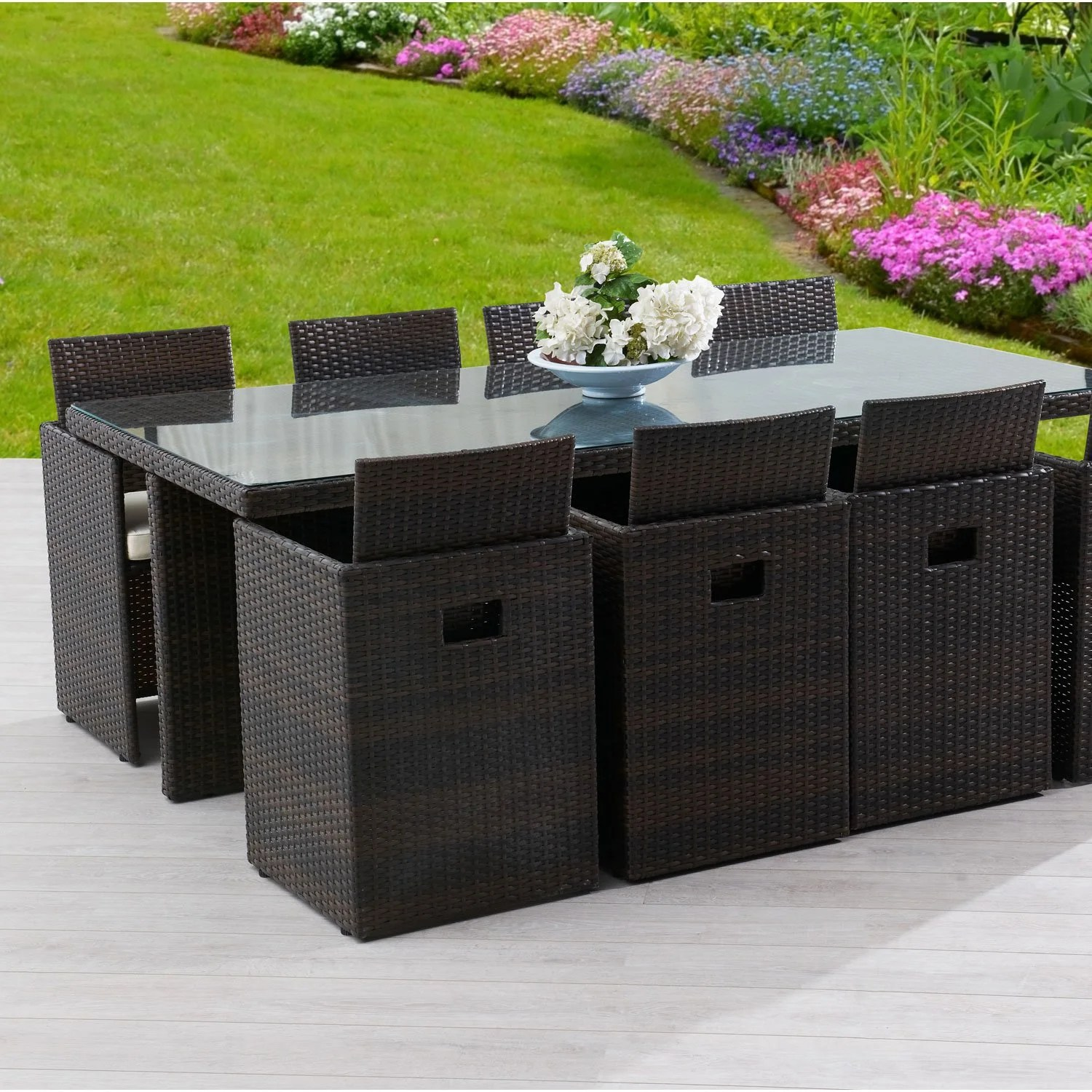 Leroy Merlin Table De Jardin Salon De Jardin Encastrable Dcb Garden 1 Table 43 8