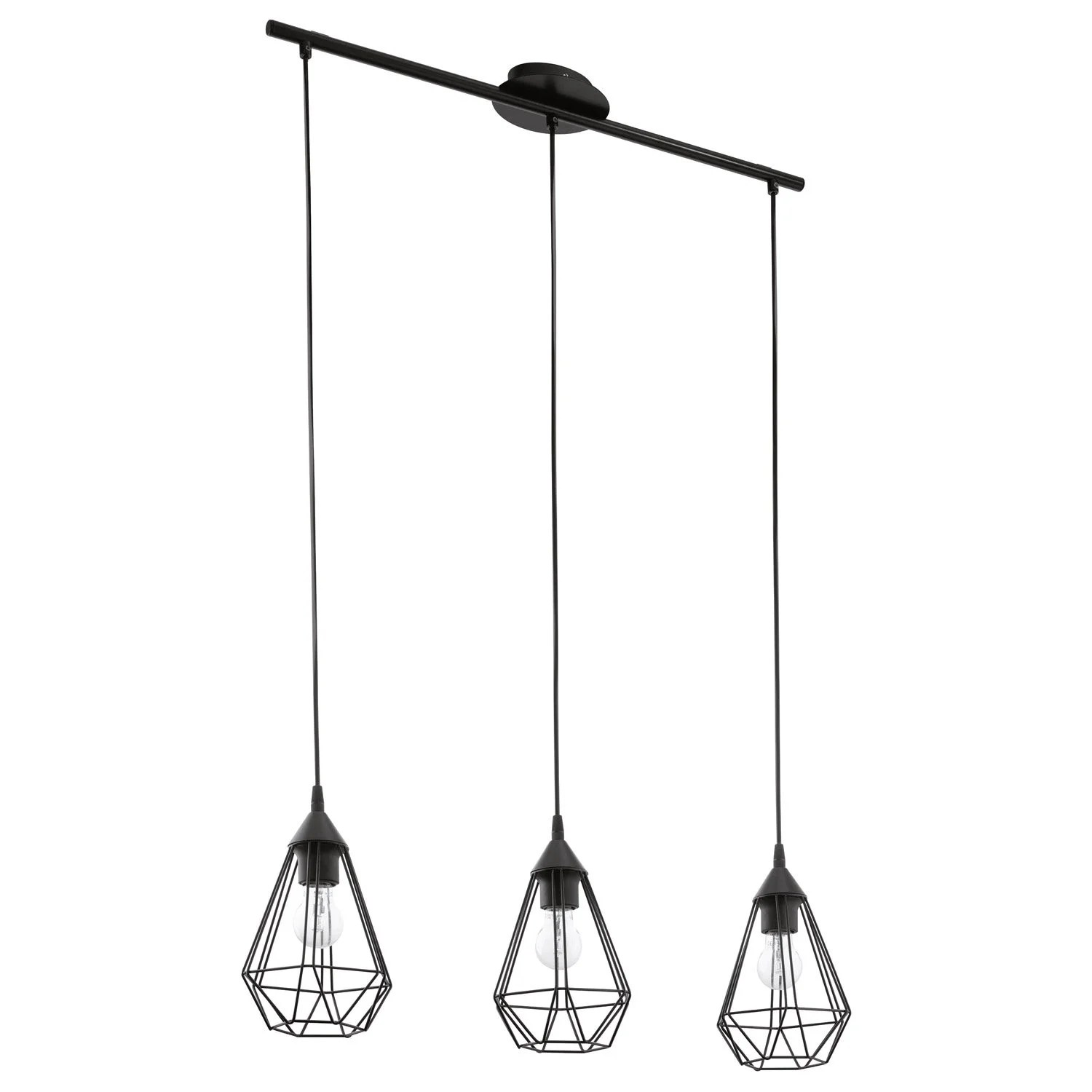 Le Roy Merlin Suspension Suspension Industriel Tarbes Métal Noir 3 X 60 W Eglo