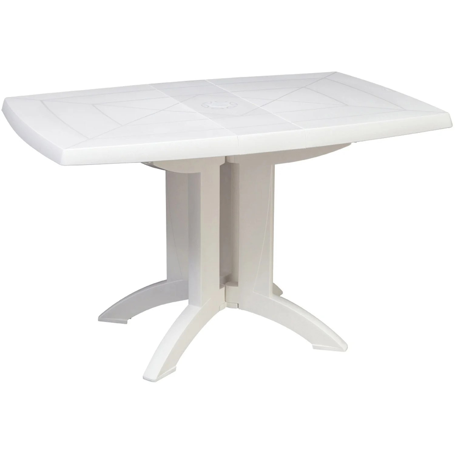 Table Jardin Verte Plastique Table De Jardin Grosfillex Véga Rectangulaire Blanc 4