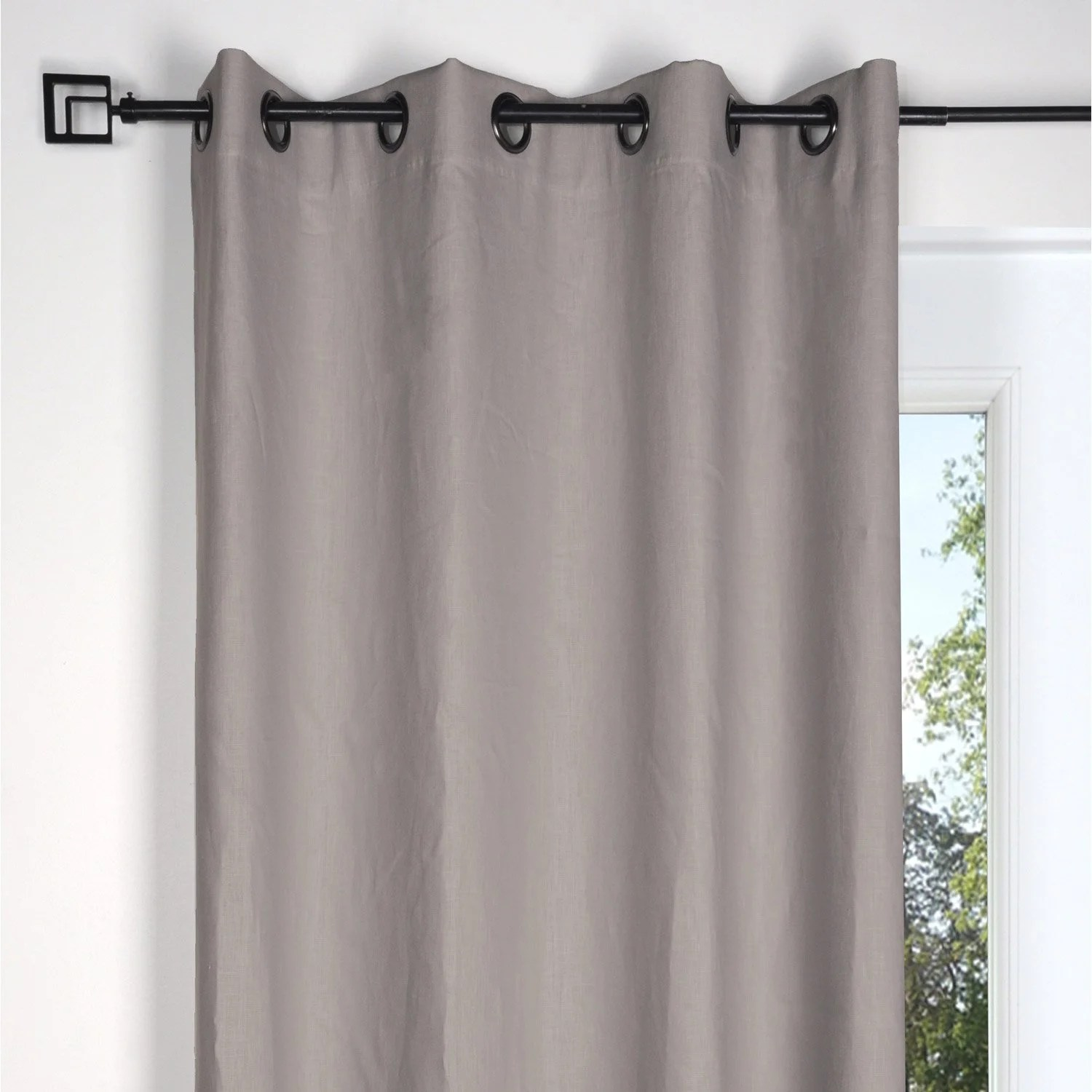 Rideau Voilage Double Rideau Tamisant Toile Taupe L 135 X H 250 Cm Leroy Merlin