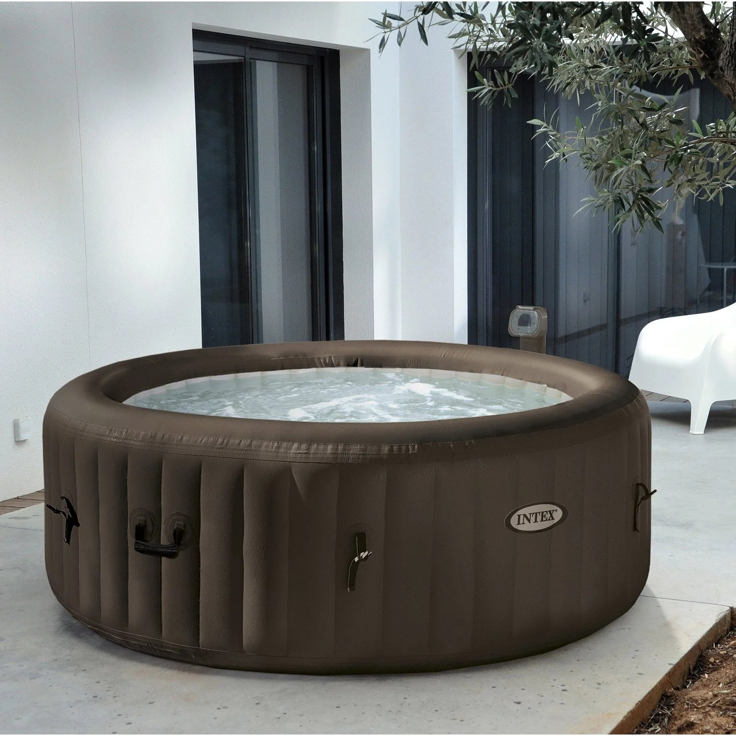 Amenagement Exterieur Spa Gonflable Spa Gonflable Intex Purespa Jets Rond 4 Places Assises