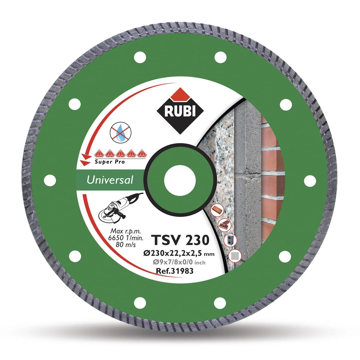 Leroy Merlin Disque Diamant Disque Diamant Turbo Rubi Tsv 125 Pro 125 Mm Leroy Merlin