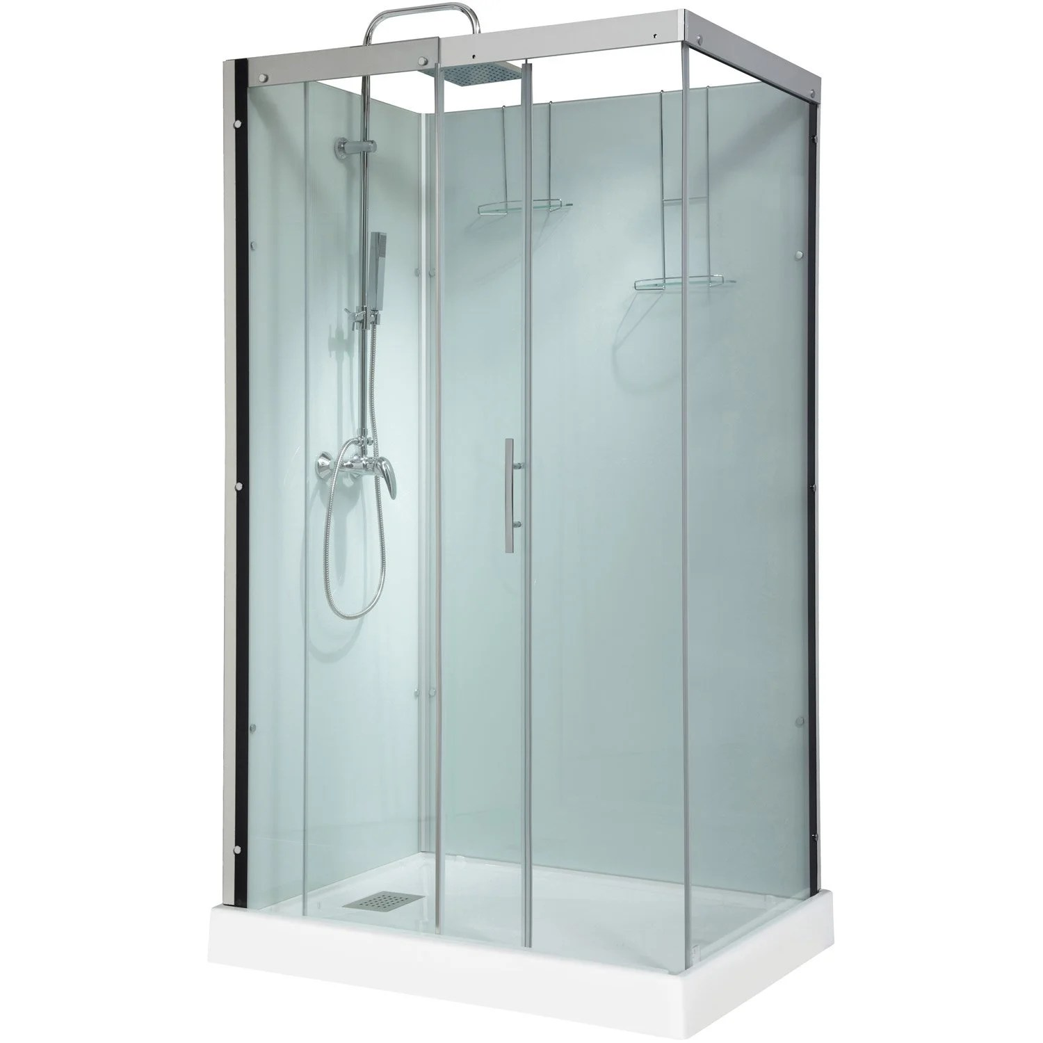Salon De Jardin Allibert Castorama Cabine De Douche Rectangulaire 120x90 Cm, Thalaglass 2