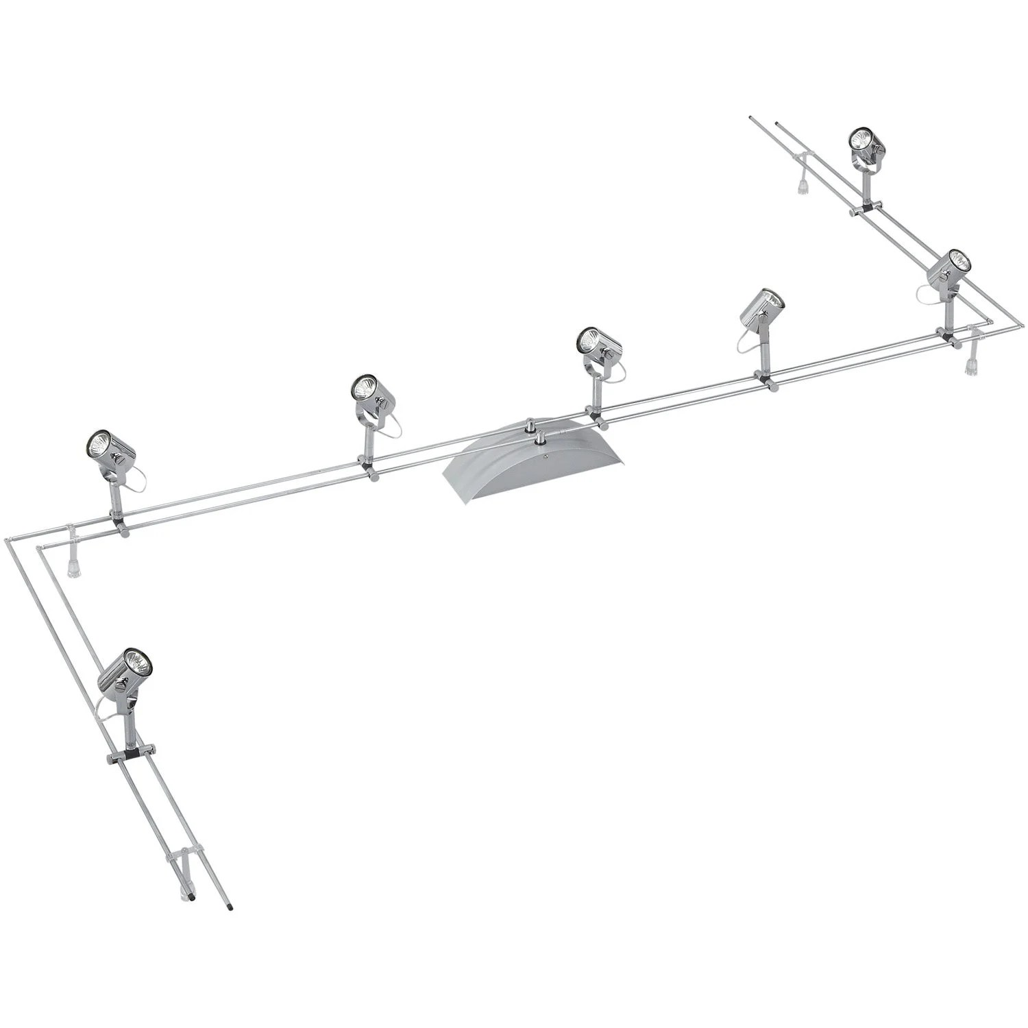 Eclairage Led Sur Cable Tendu Kit Rail Comet Ii Gu4 7 X 20 W Paulmann Leroy Merlin