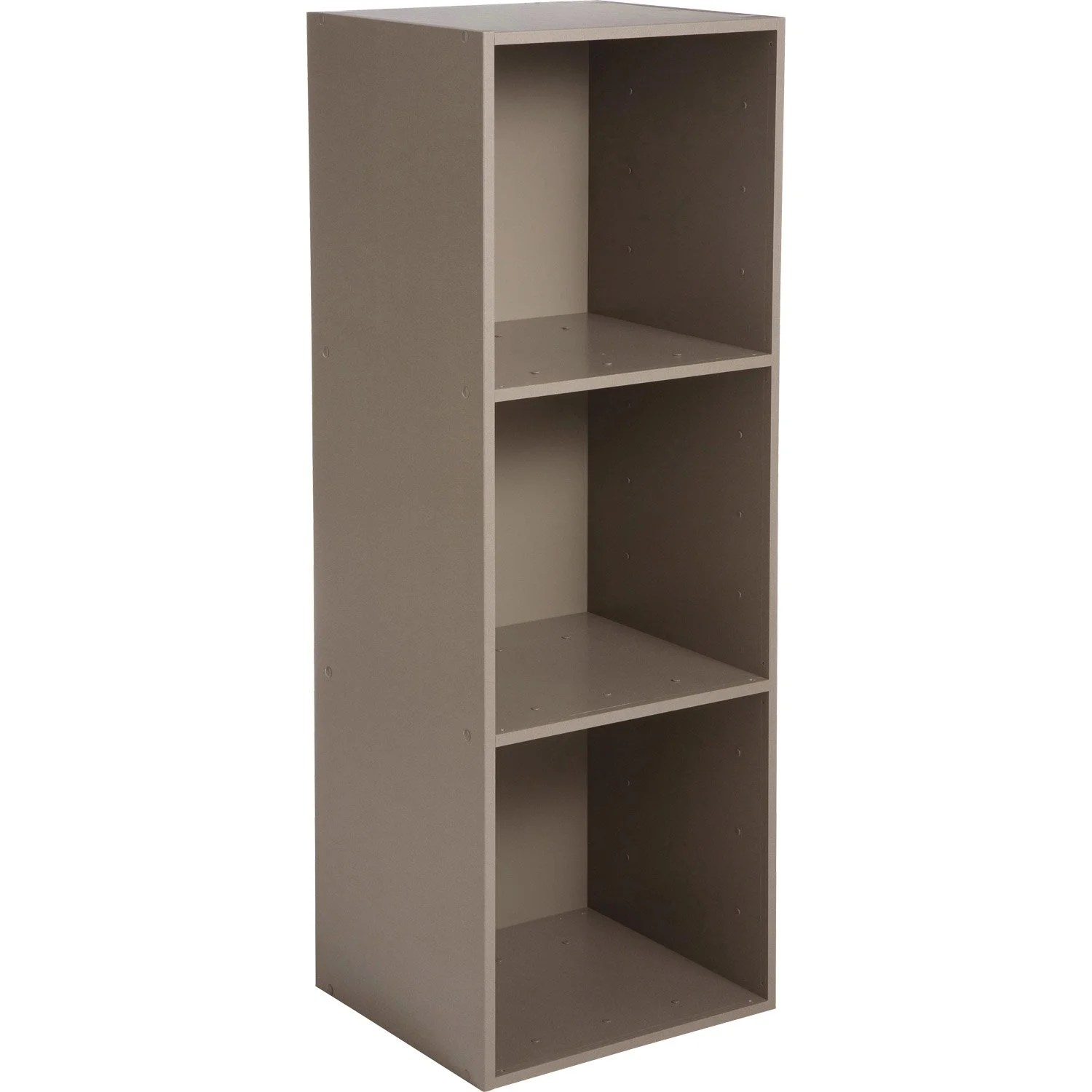 Meuble Multikaz Etagère 3 Cases Multikaz Taupe H 103 2 X L 35 2 X P 31 7