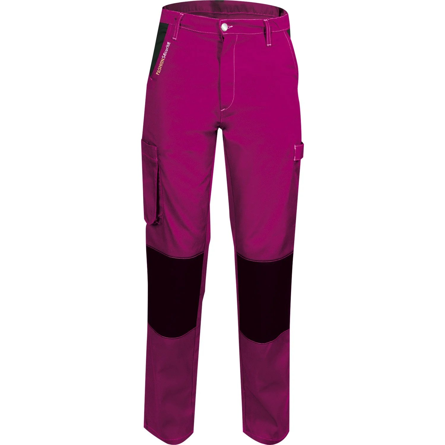 Pantalon Travail Leroy Merlin Pantalon De Travail Fashion Securite Pep's, Rose / Noir