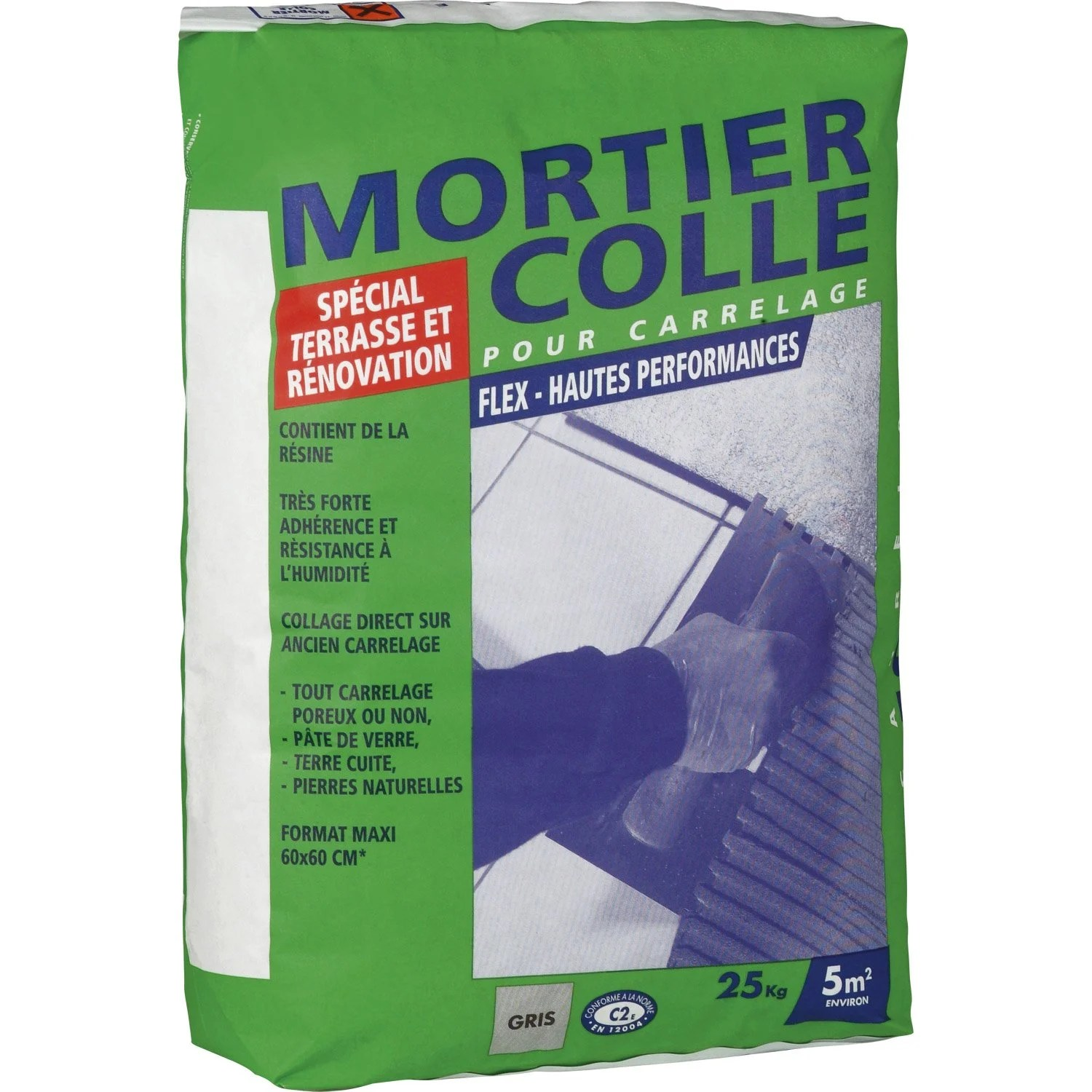 Mortier Colle Carrelage Exterieur Point P Mortier Colle Flex Gris 25 Kg Leroy Merlin