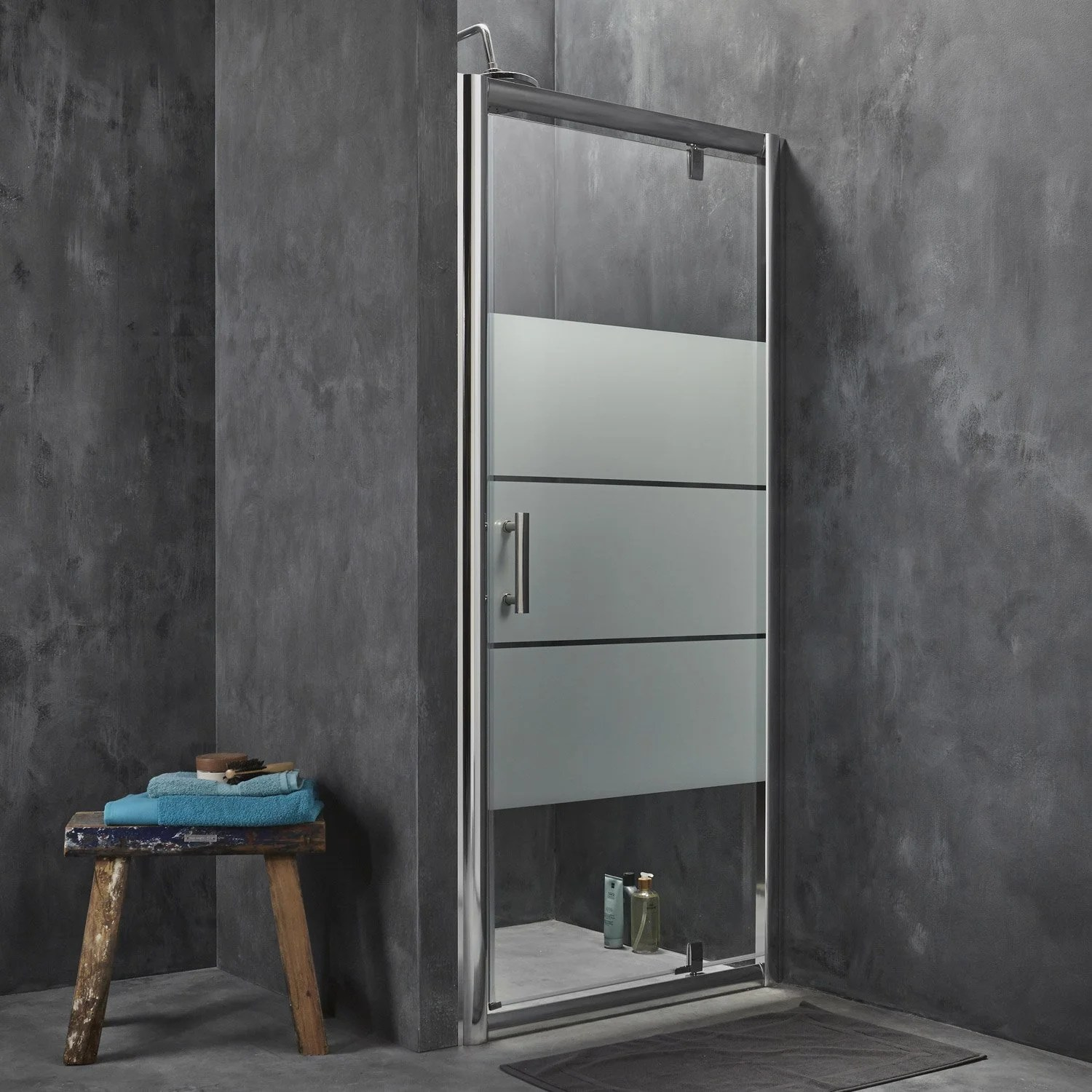 Leroy Merlin Table Pliante Porte De Douche Pivotante Sensea Optima 2, Verre De